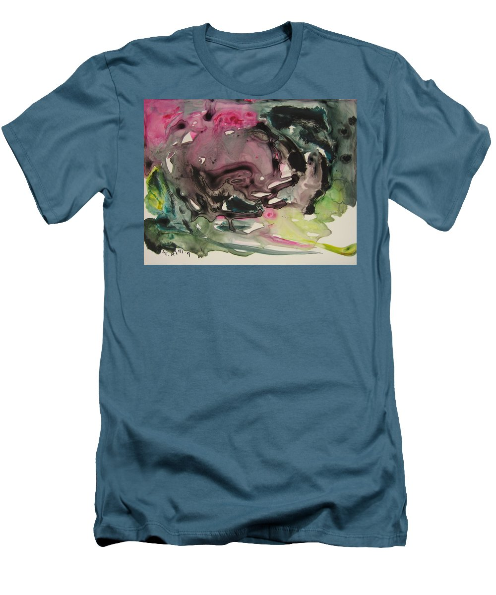 Abstract Paintings Men's T-Shirt (Athletic Fit) featuring the painting Color Fever 115 by Seon-Jeong Kim