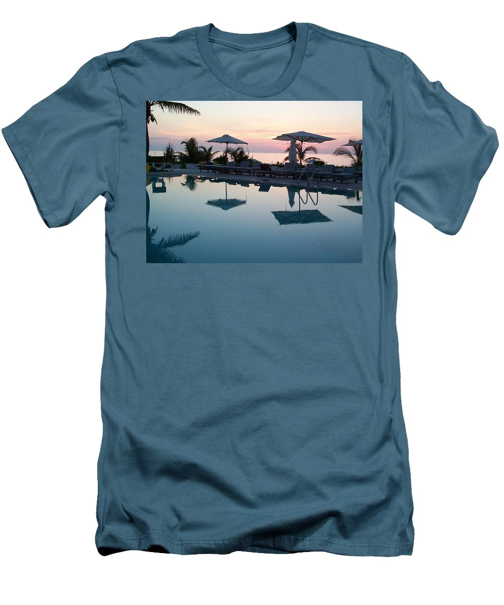 Charity Men's T-Shirt (Athletic Fit) featuring the photograph Columbus Isle by Mary-Lee Sanders
