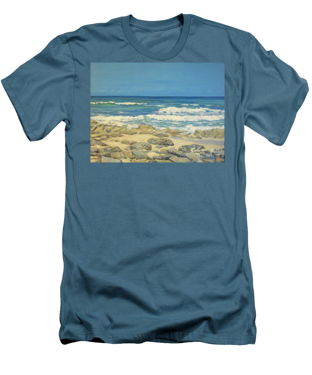 Compass Cay Men's T-Shirt (Athletic Fit) featuring the painting Compass Cay by Danielle Perry