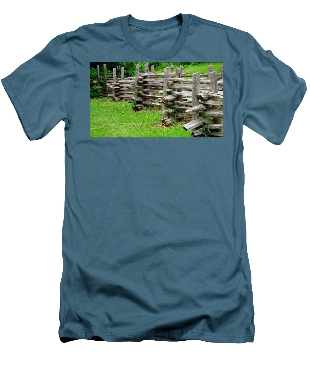 Split Men's T-Shirt (Athletic Fit) featuring the photograph Complex Pattern by Ian MacDonald