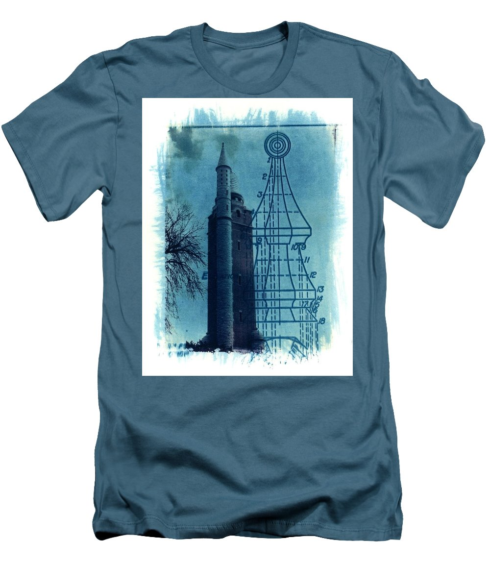 Alternative Process Photography Men's T-Shirt (Athletic Fit) featuring the photograph Compton Blueprint by Jane Linders