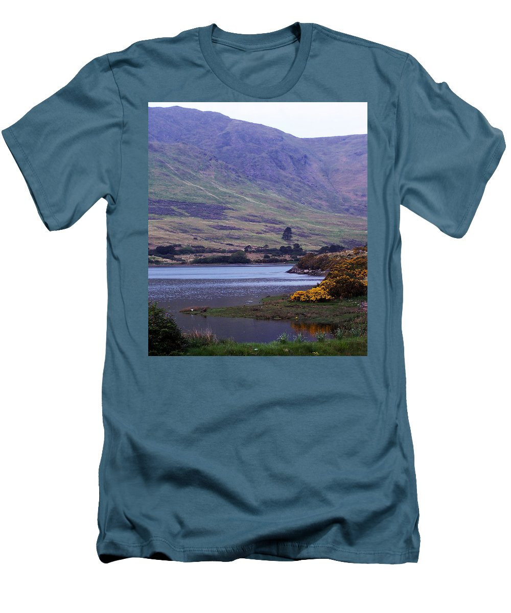 Landscape Men's T-Shirt (Athletic Fit) featuring the photograph Connemara Leenane Ireland by Teresa Mucha