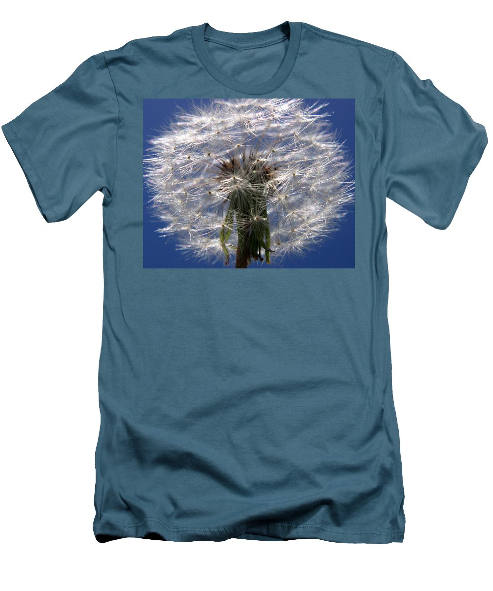 Dandelion Men's T-Shirt (Athletic Fit) featuring the photograph Dandelion by Ralph A Ledergerber-Photography