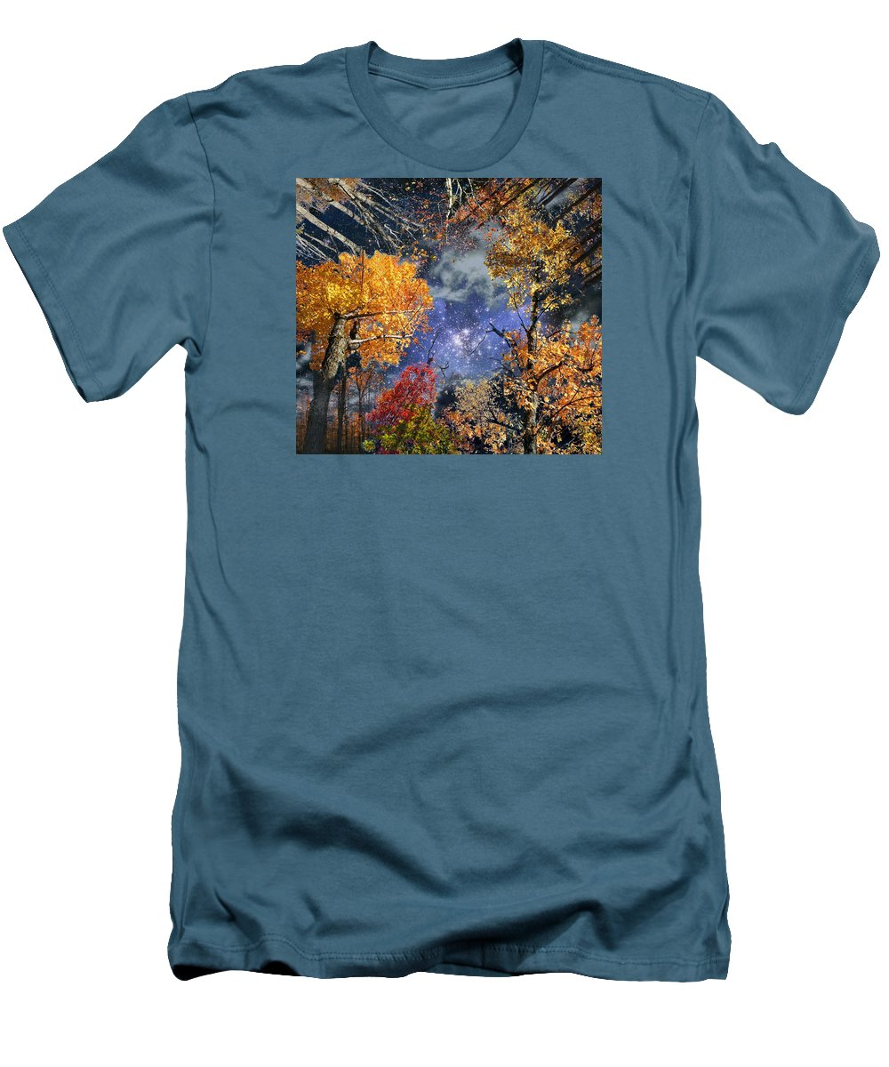 Deep Space Men's T-Shirt (Athletic Fit) featuring the photograph Deep Canopy by Dave Martsolf