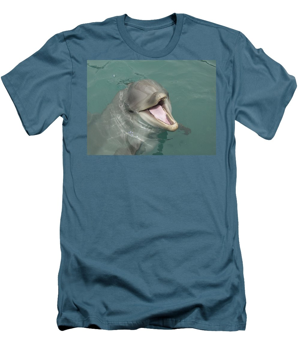 Dolphin Men's T-Shirt (Athletic Fit) featuring the painting Dolphin by Sean M