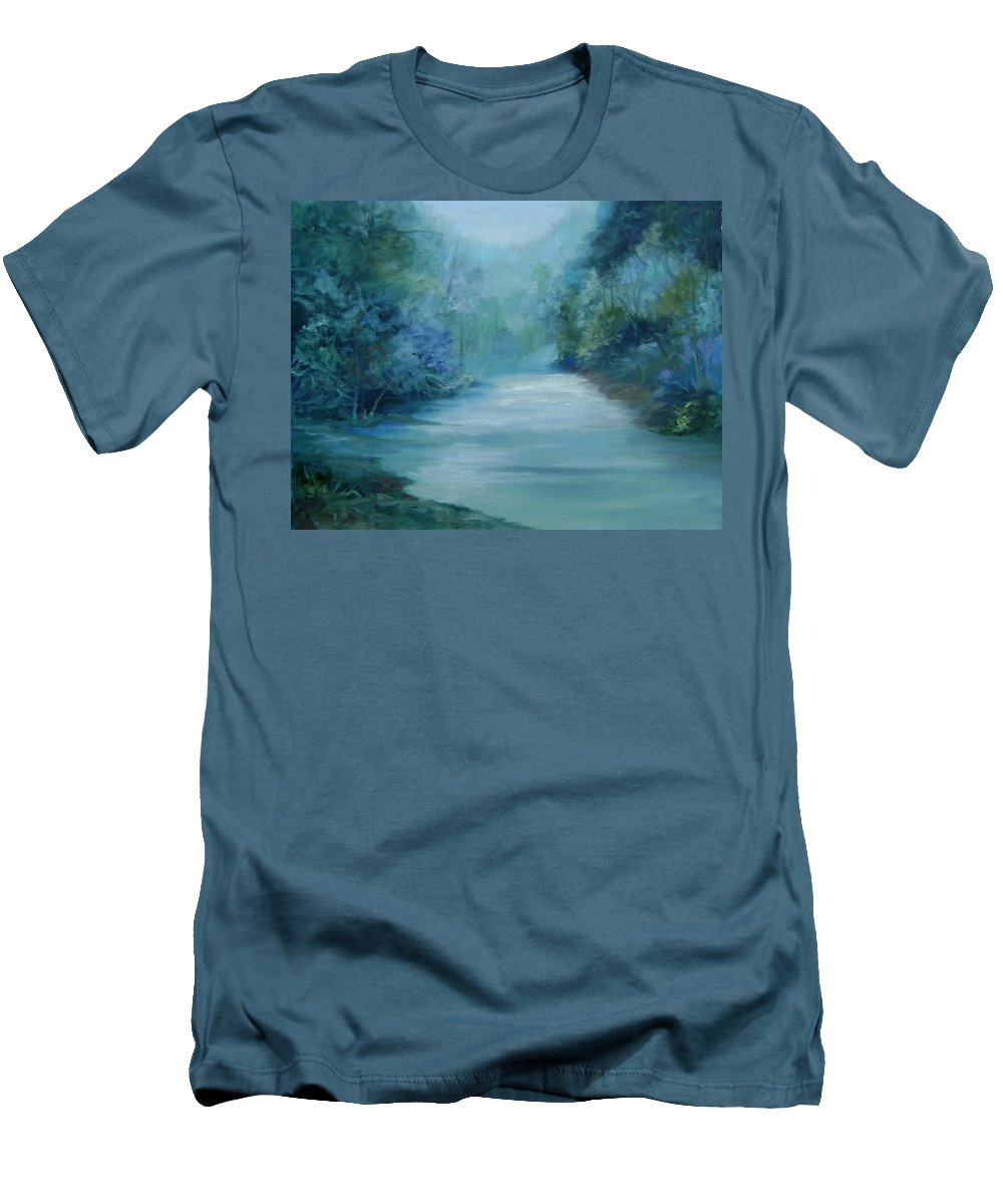 Burton River Georgia Men's T-Shirt (Athletic Fit) featuring the painting Dreamsome by Ginger Concepcion