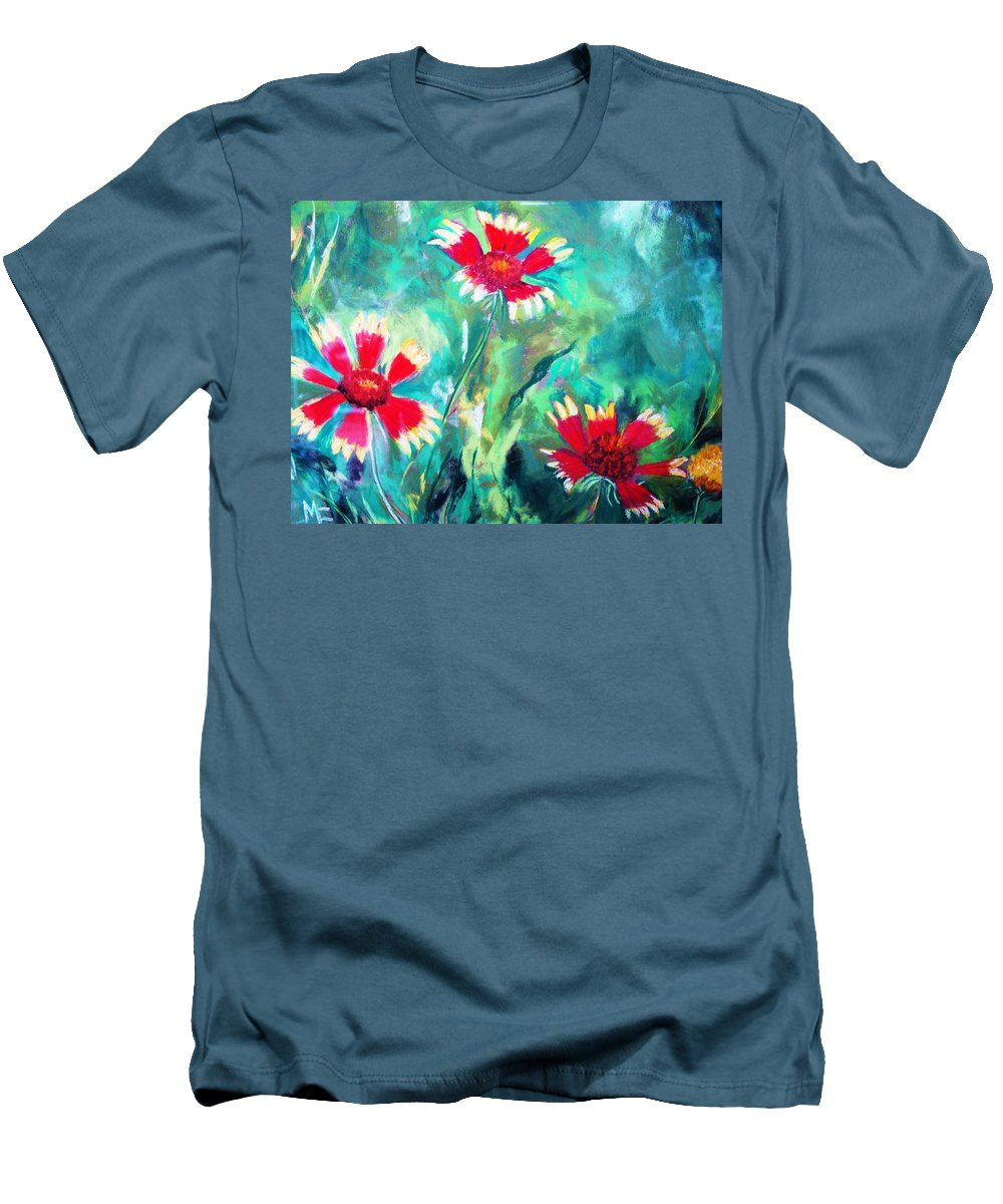 Flowers Men's T-Shirt (Athletic Fit) featuring the painting East Texas Wild Flowers by Melinda Etzold