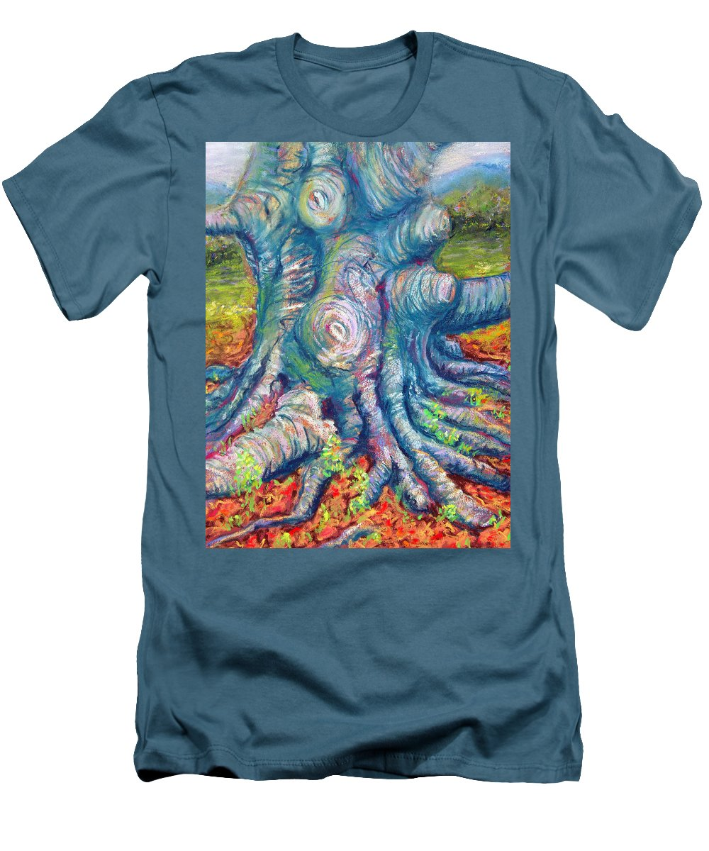 Eastern Beech Tree Men's T-Shirt (Athletic Fit) featuring the painting Eastern Beech Tree by Laurie Paci