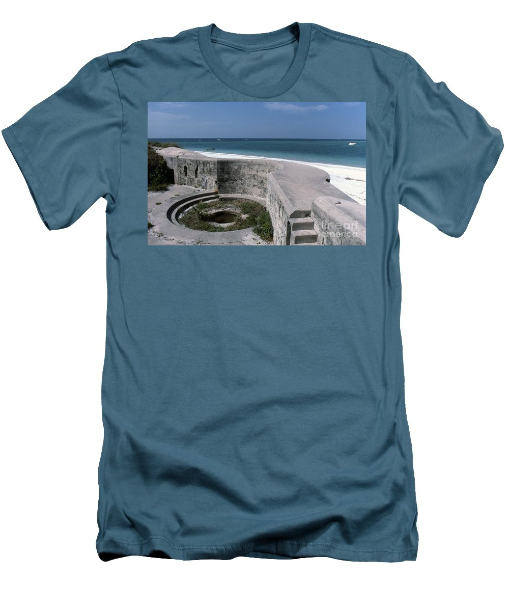 Beaches Men's T-Shirt (Athletic Fit) featuring the photograph Egmont Key by Richard Rizzo