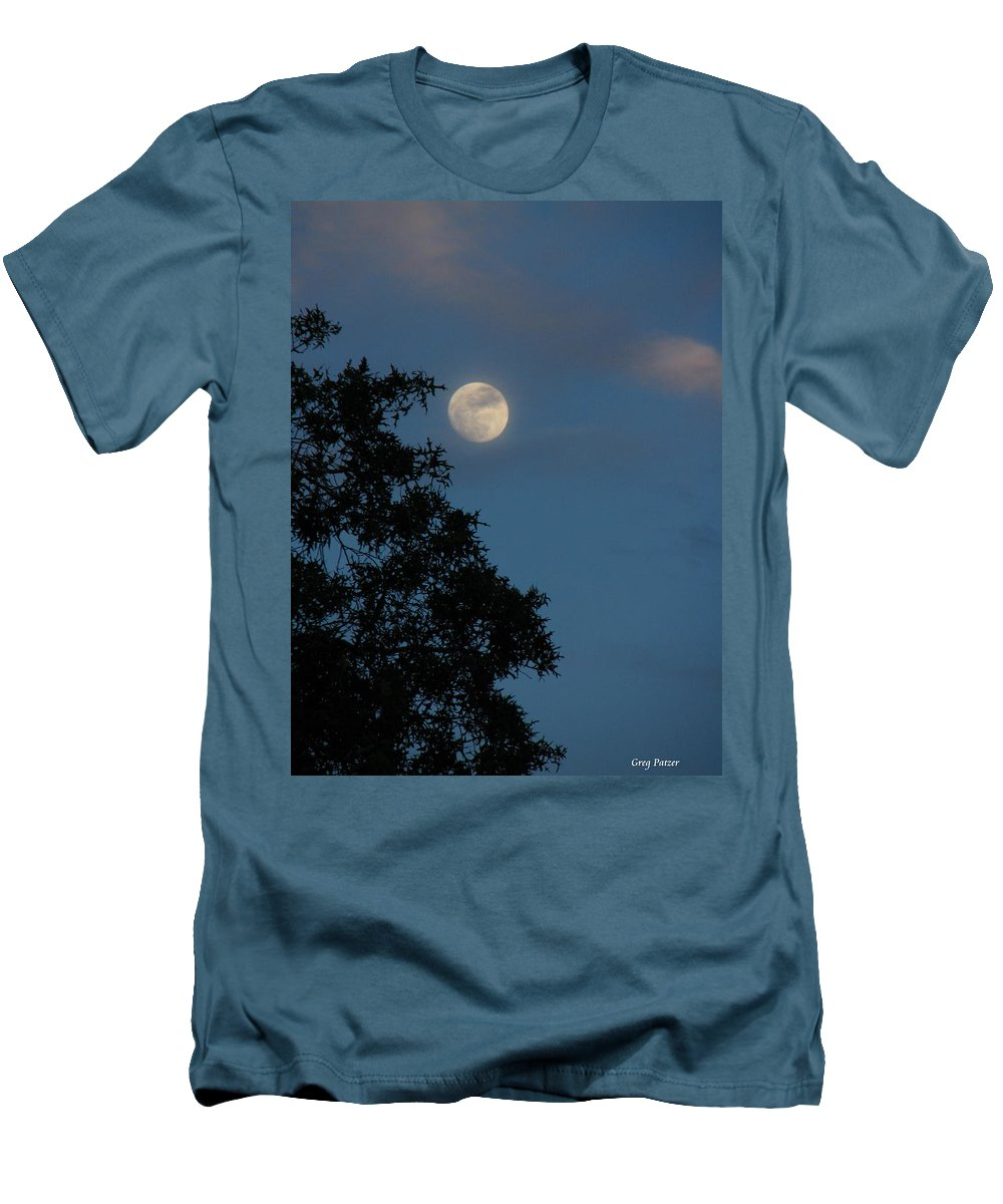 Patzer Men's T-Shirt (Athletic Fit) featuring the photograph Eight Thirty Two Pm by Greg Patzer