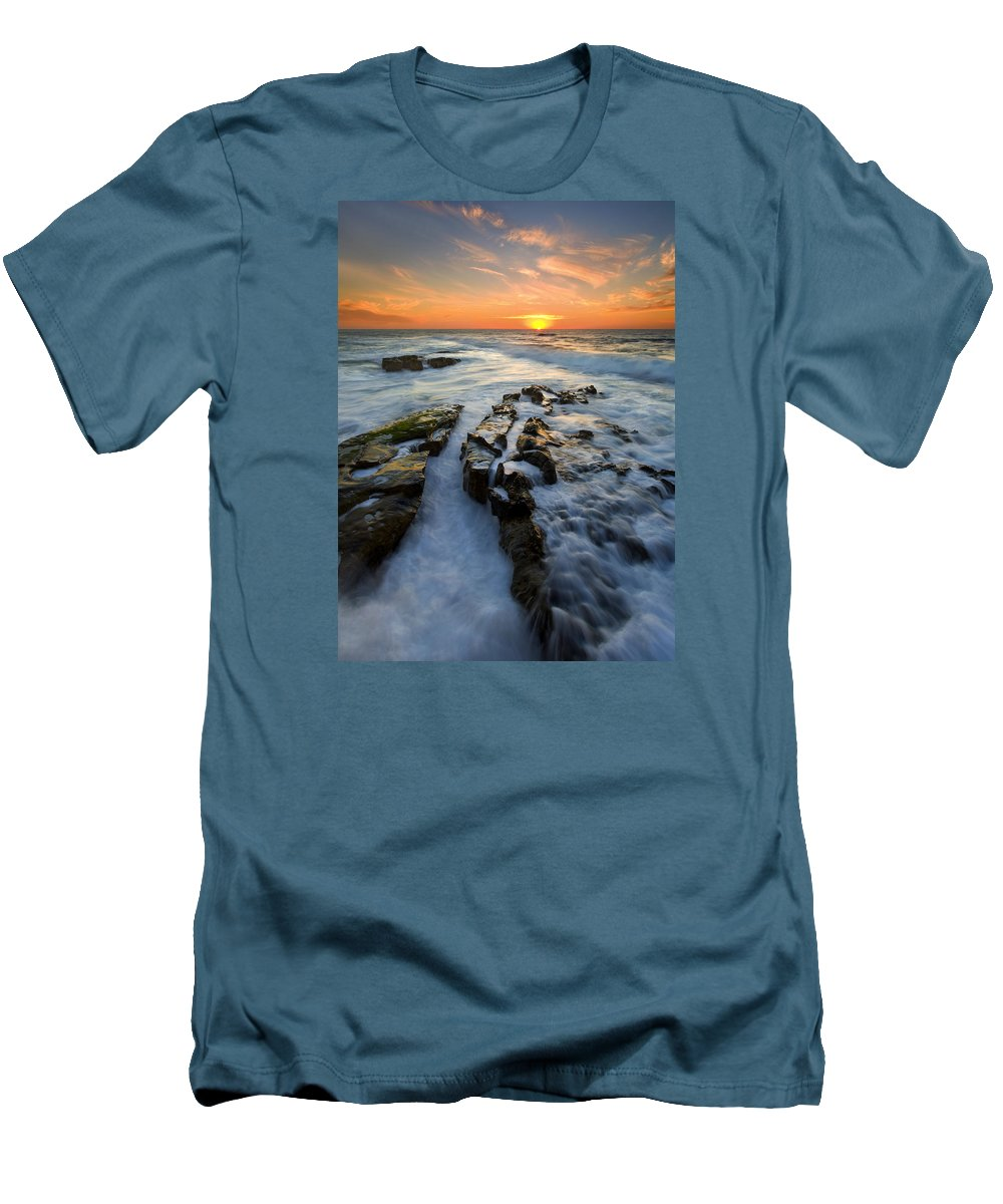 Sunset Men's T-Shirt (Athletic Fit) featuring the photograph Engulfed by Mike Dawson