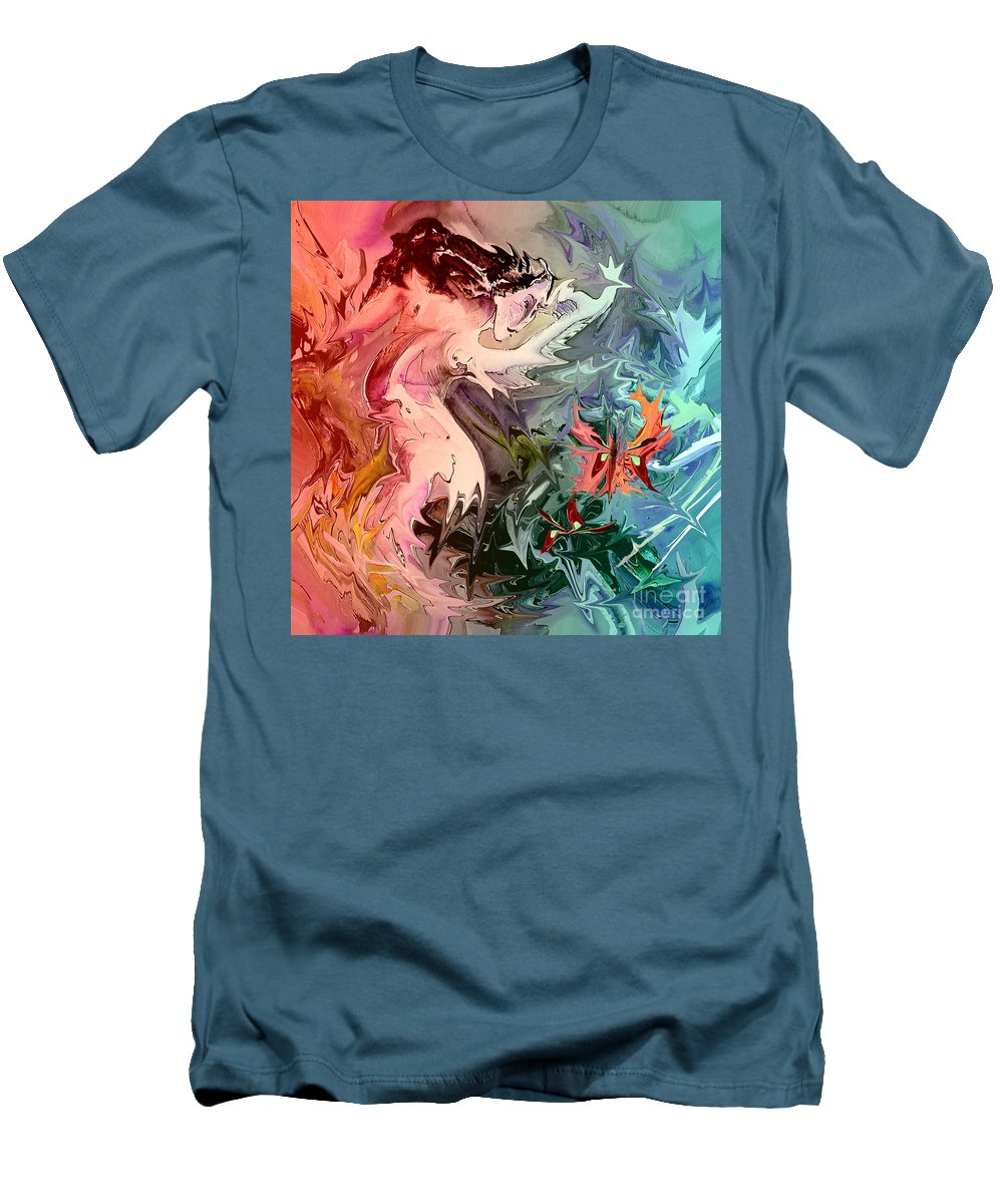 Miki Men's T-Shirt (Athletic Fit) featuring the painting Eroscape 08 1 by Miki De Goodaboom