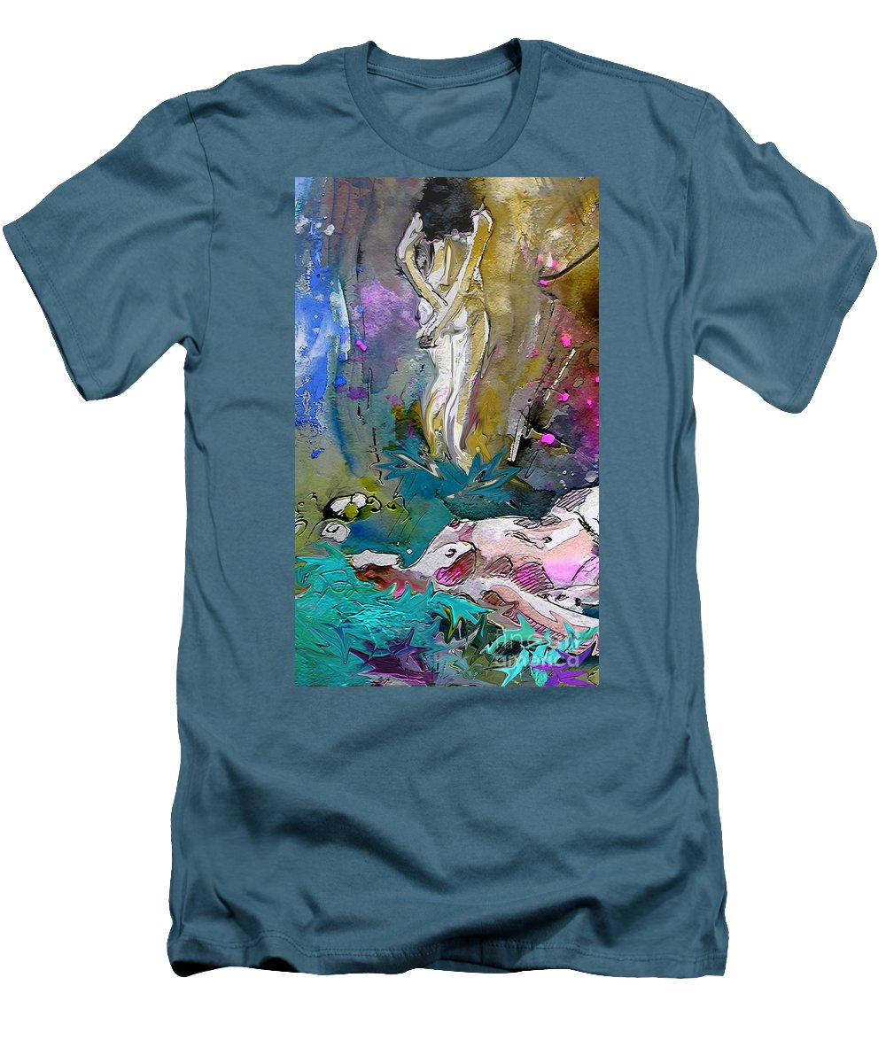 Miki Men's T-Shirt (Athletic Fit) featuring the painting Eroscape 1104 by Miki De Goodaboom