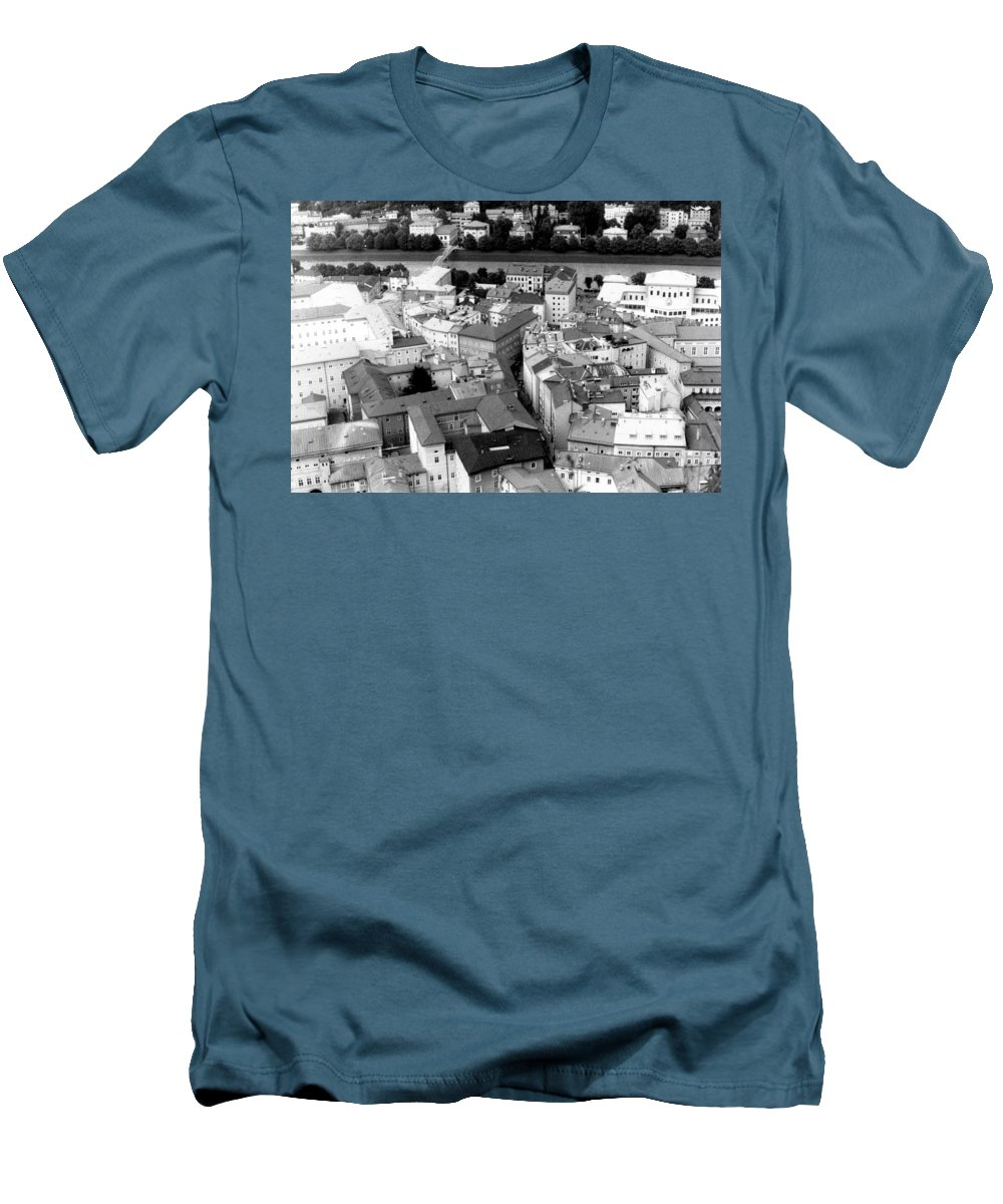Rofftops Men's T-Shirt (Athletic Fit) featuring the photograph European Rooftops by Michelle Calkins