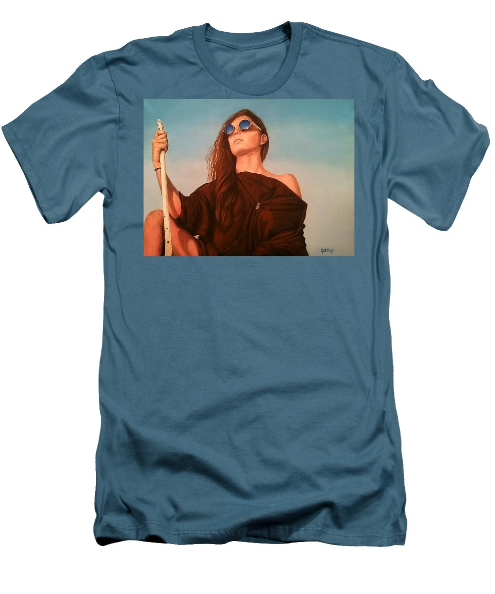 Painting Men's T-Shirt (Athletic Fit) featuring the painting Expedition by Sheryl Gallant