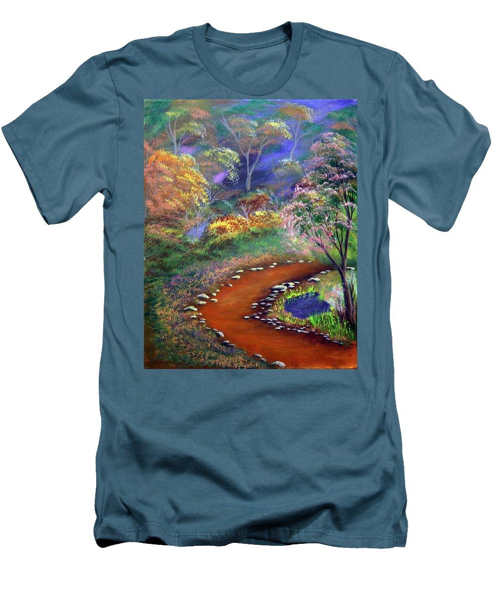 Dawn Blair Men's T-Shirt (Athletic Fit) featuring the painting Fantasy Path by Dawn Blair