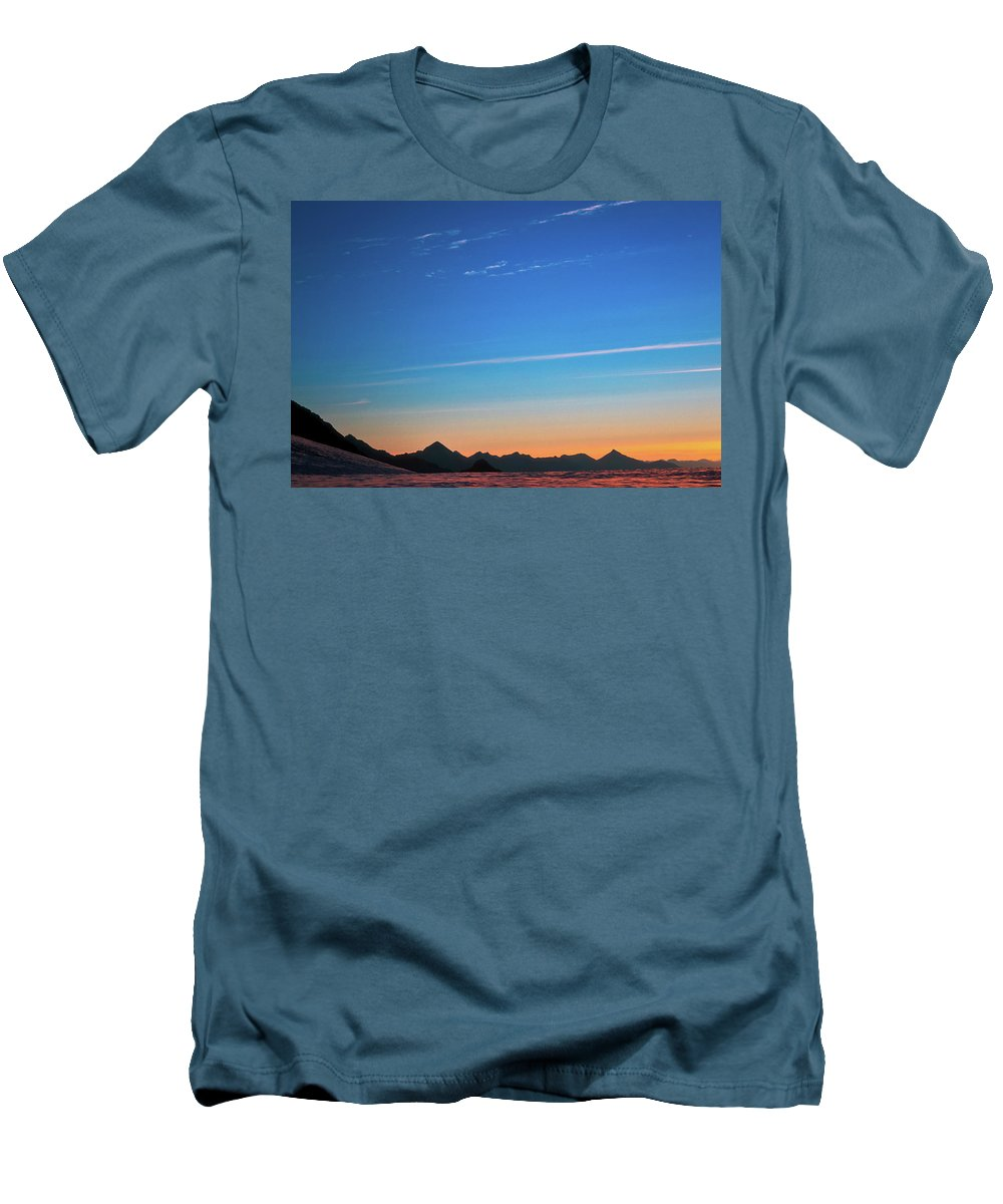 Alone Men's T-Shirt (Athletic Fit) featuring the photograph Far Mountains by Konstantin Dikovsky
