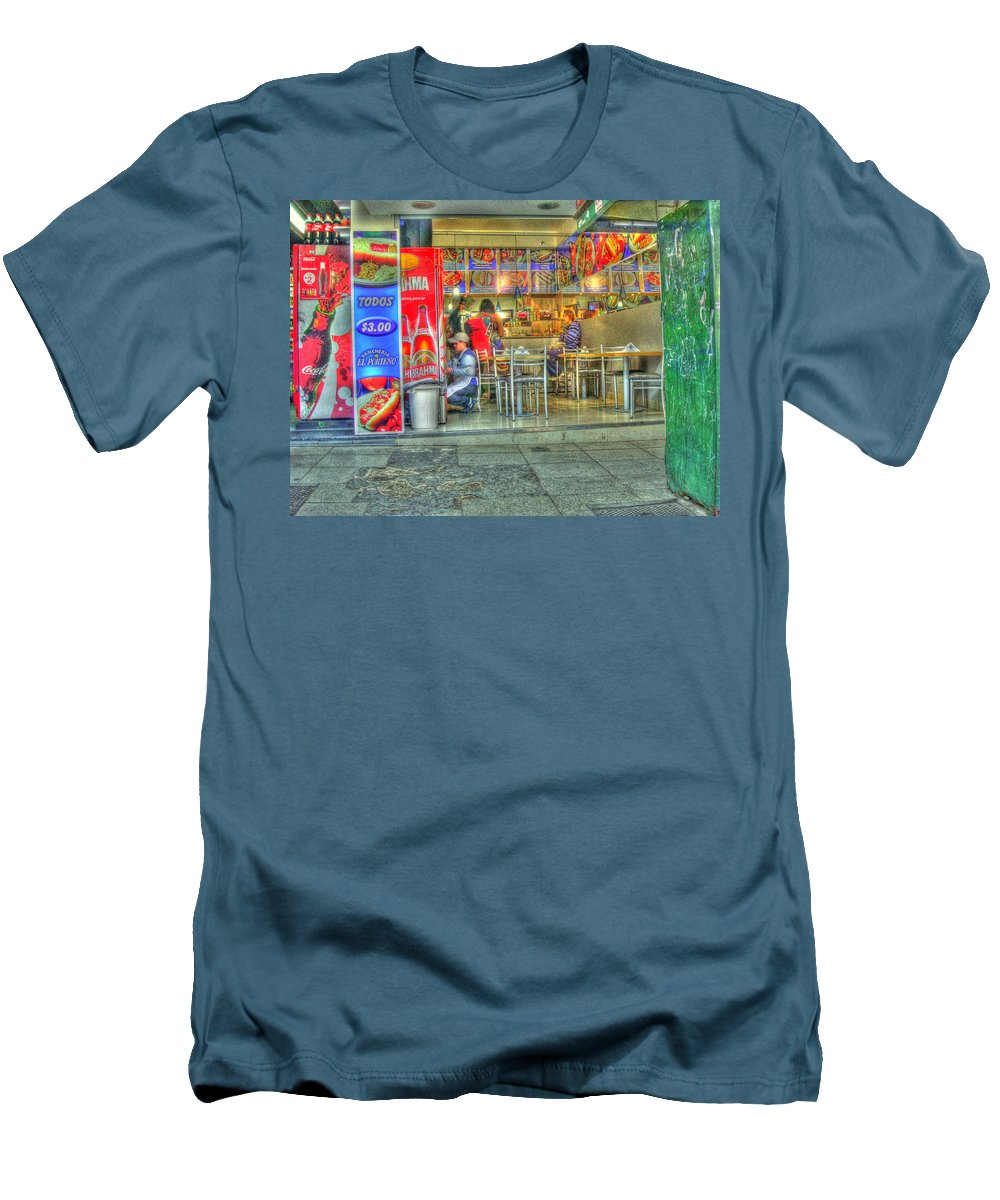 Conveniece Men's T-Shirt (Athletic Fit) featuring the photograph Fast Food by Francisco Colon