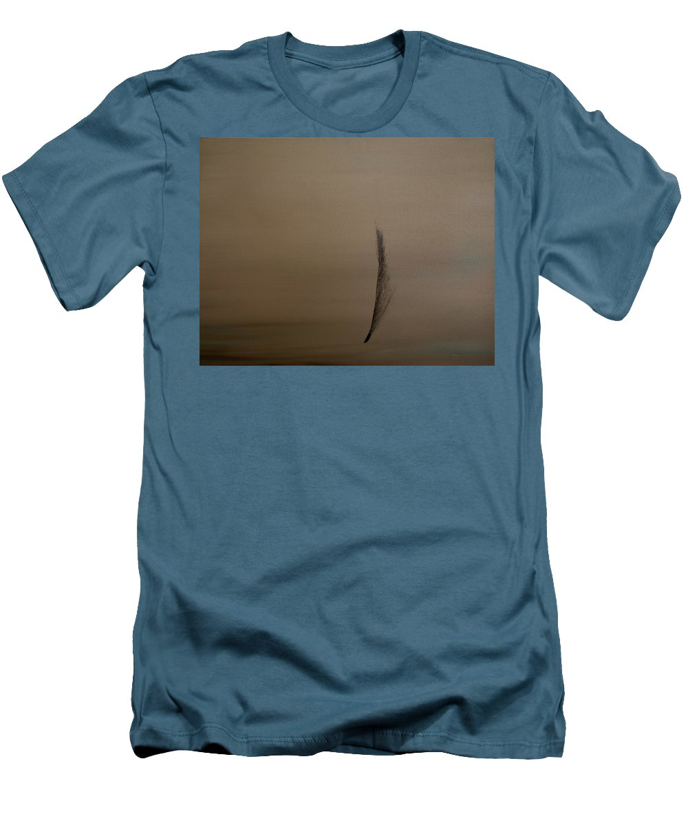 Feather Men's T-Shirt (Athletic Fit) featuring the painting Feather by Jack Diamond