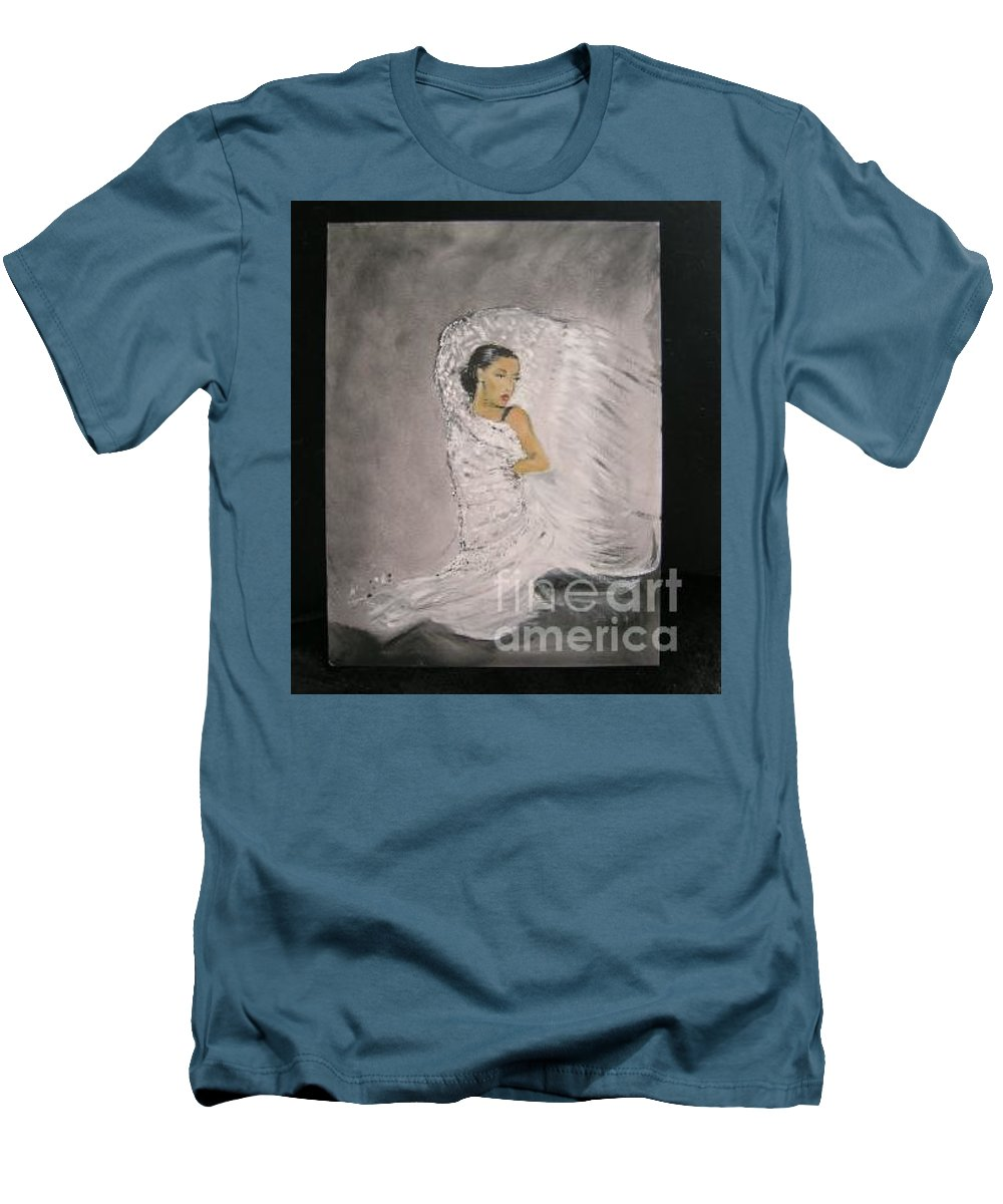 Spain Men's T-Shirt (Athletic Fit) featuring the painting Flamenco by Lizzy Forrester