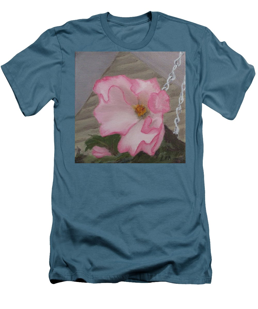 Flower Men's T-Shirt (Athletic Fit) featuring the painting Flirty Begonia by Lea Novak