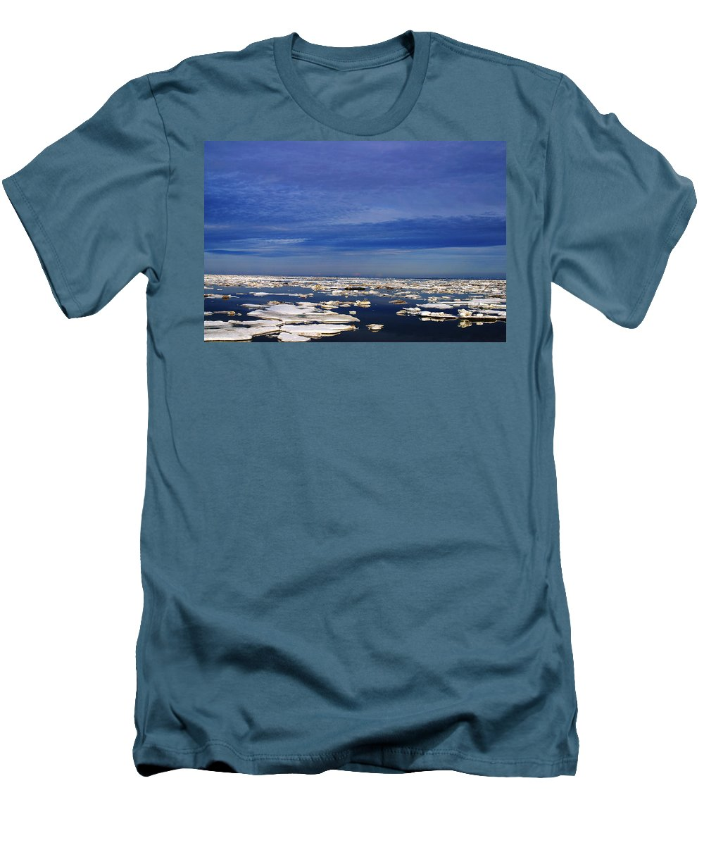 Alaska Men's T-Shirt (Athletic Fit) featuring the digital art Floating Ice by Anthony Jones