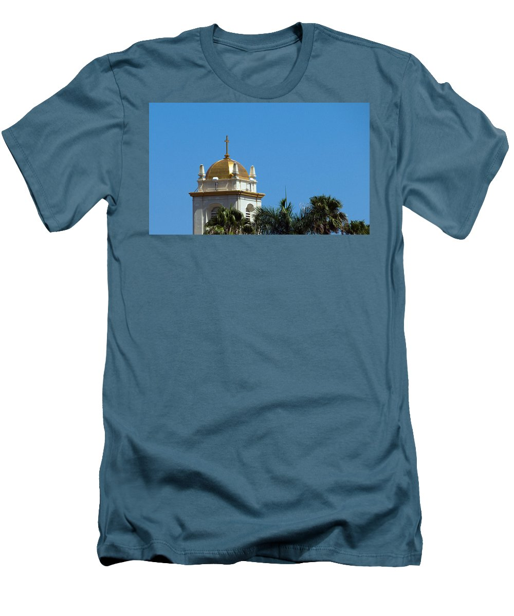 Lake Men's T-Shirt (Athletic Fit) featuring the photograph Florida Church by Allan Hughes