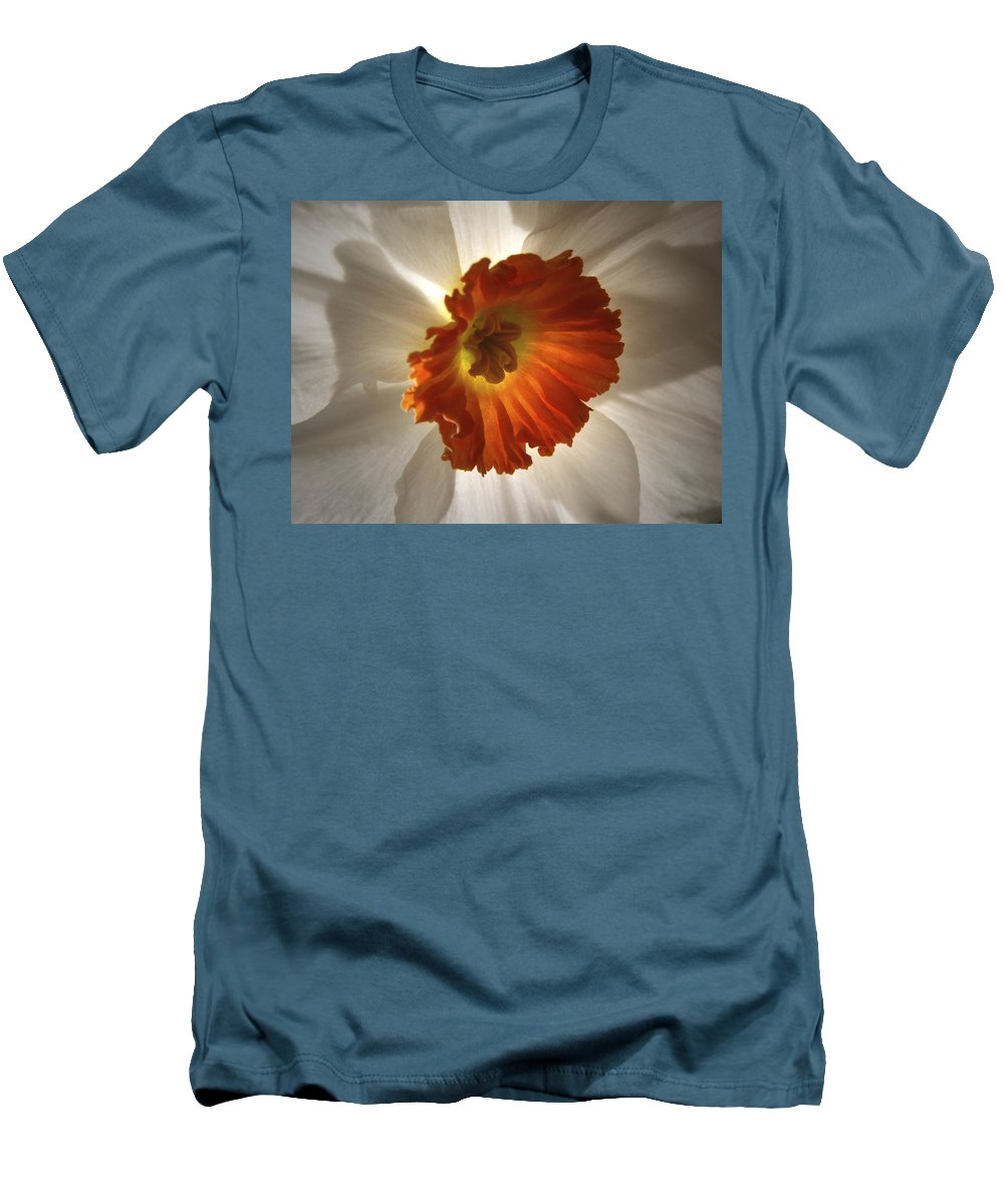 Flowers Men's T-Shirt (Athletic Fit) featuring the photograph Flower Narcissus by Nancy Griswold