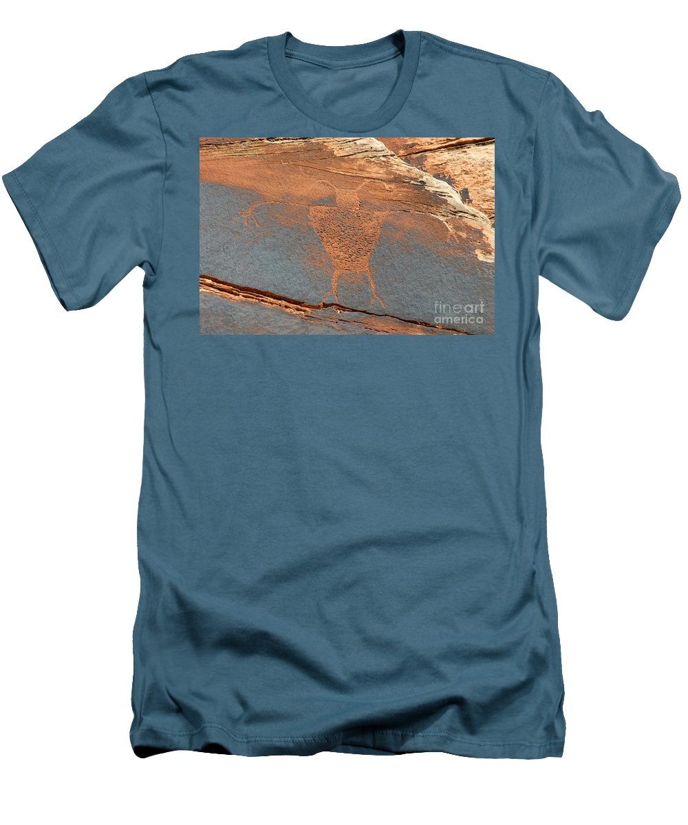 Petroglyph Men's T-Shirt (Athletic Fit) featuring the photograph Fremont Man by David Lee Thompson