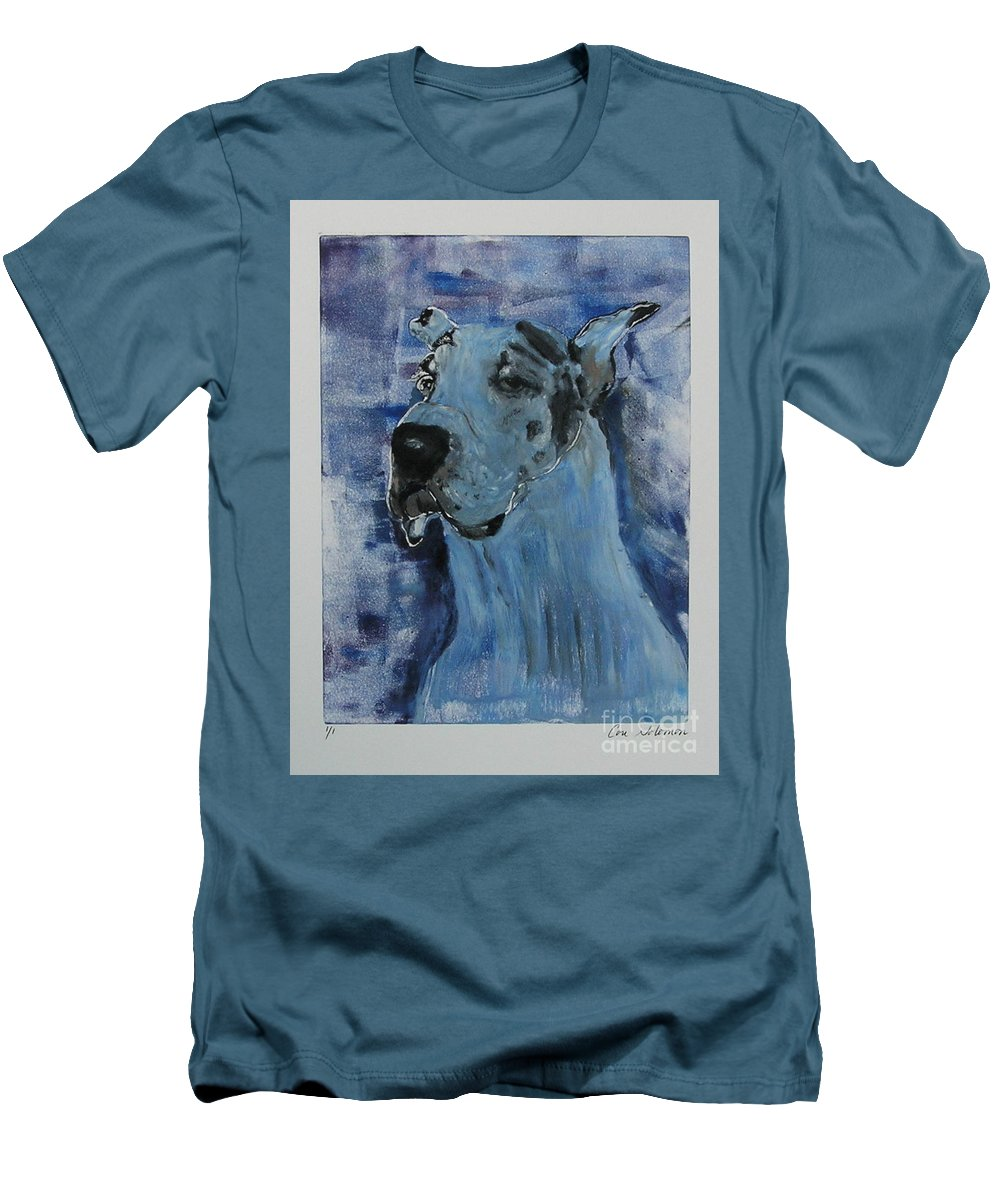 Great Dane Men's T-Shirt (Athletic Fit) featuring the mixed media Gentle Giant by Cori Solomon