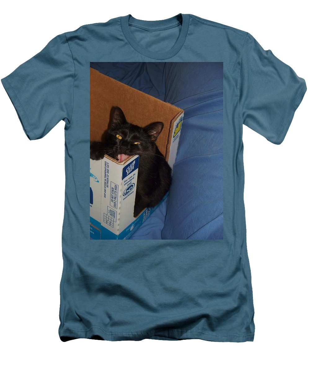 Cat Men's T-Shirt (Athletic Fit) featuring the photograph Gepptto The Cat by Eric Schiabor