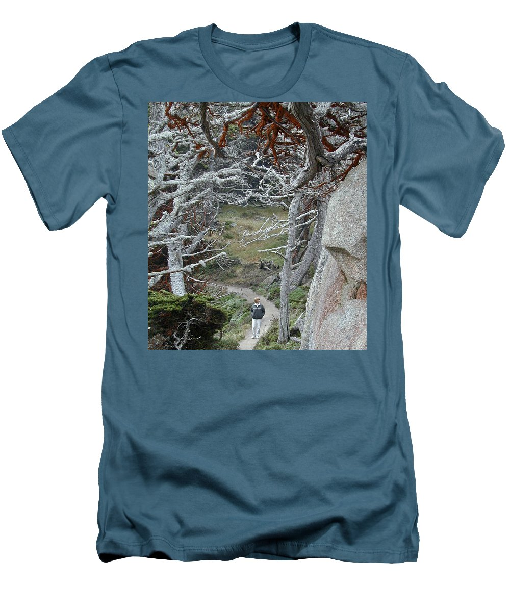 Lichens Men's T-Shirt (Athletic Fit) featuring the photograph Ghost Trees by Douglas Barnett