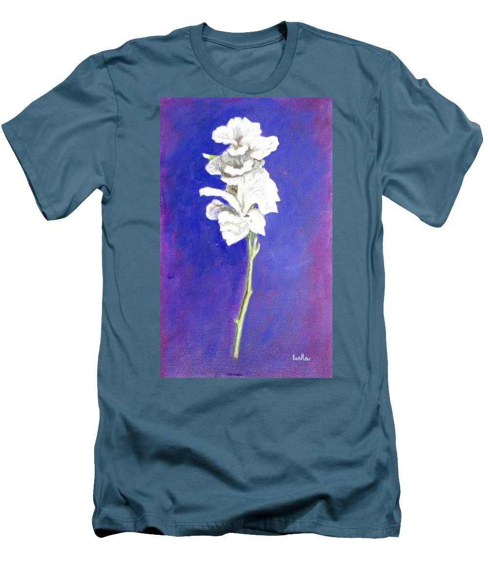 Flower Men's T-Shirt (Athletic Fit) featuring the painting Gladiolus 1 by Usha Shantharam