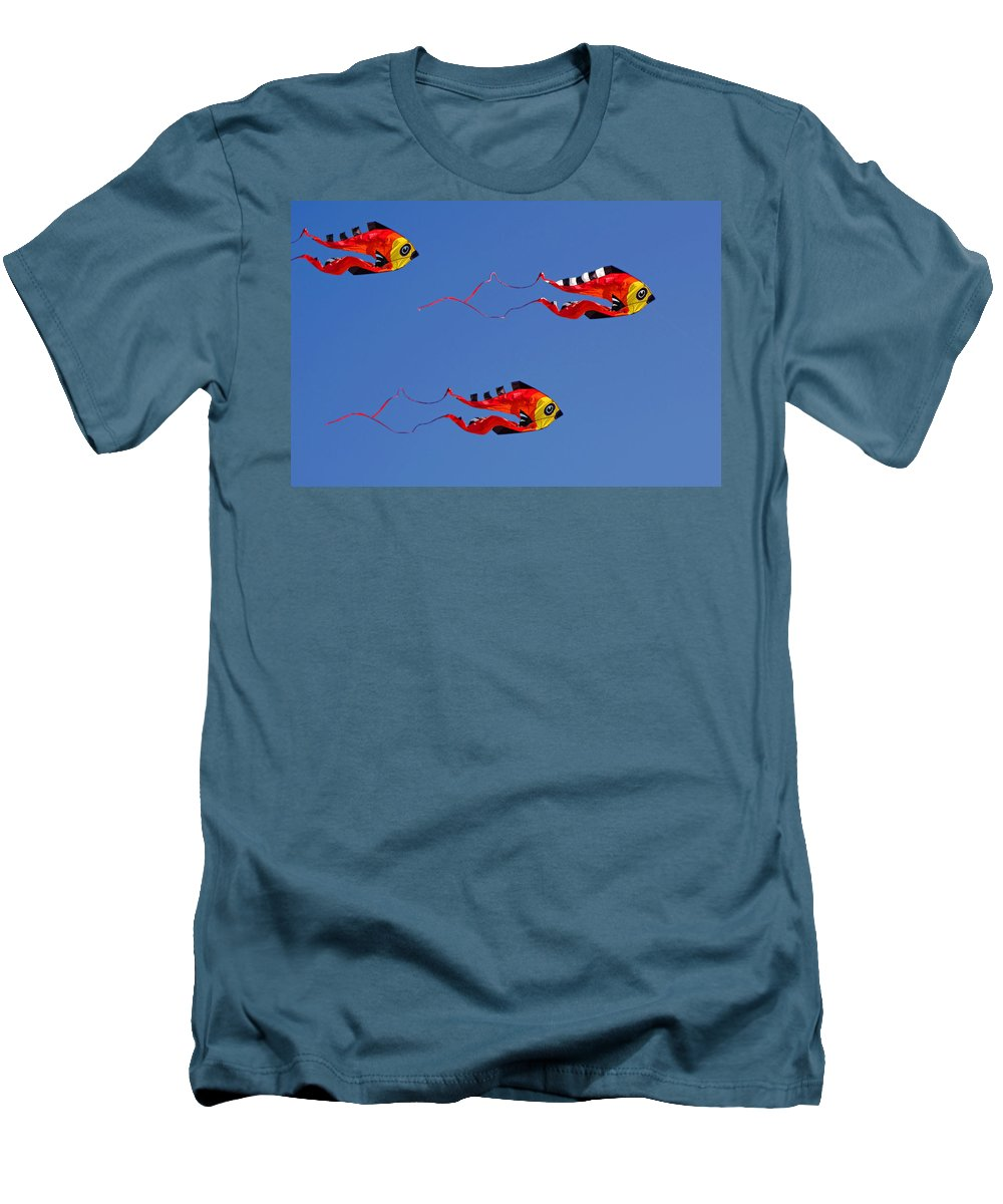 Clay Men's T-Shirt (Athletic Fit) featuring the photograph Go Fly A Kite by Clayton Bruster
