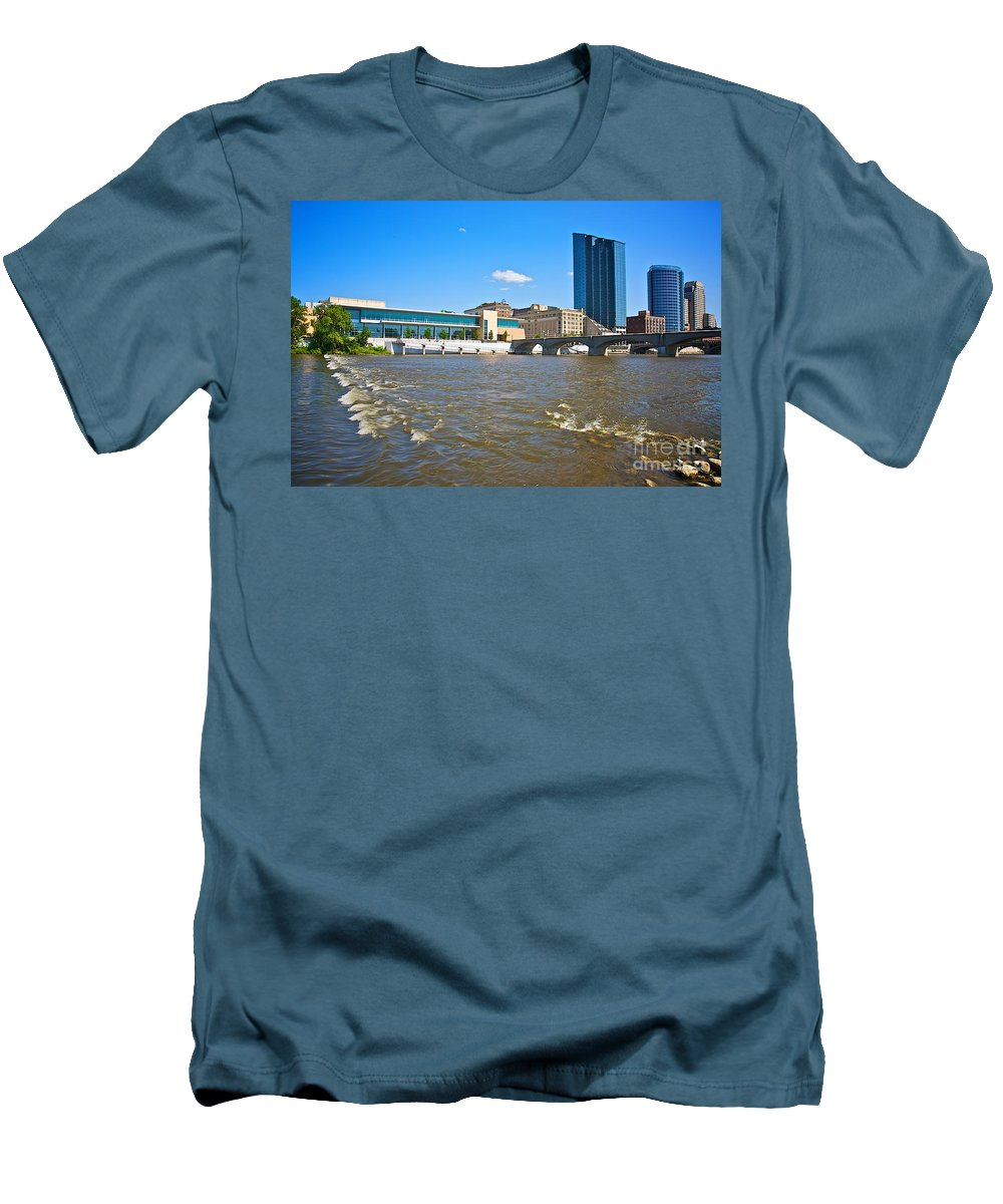 City Men's T-Shirt (Athletic Fit) featuring the photograph Grand Rapids Mi-6 by Robert Pearson