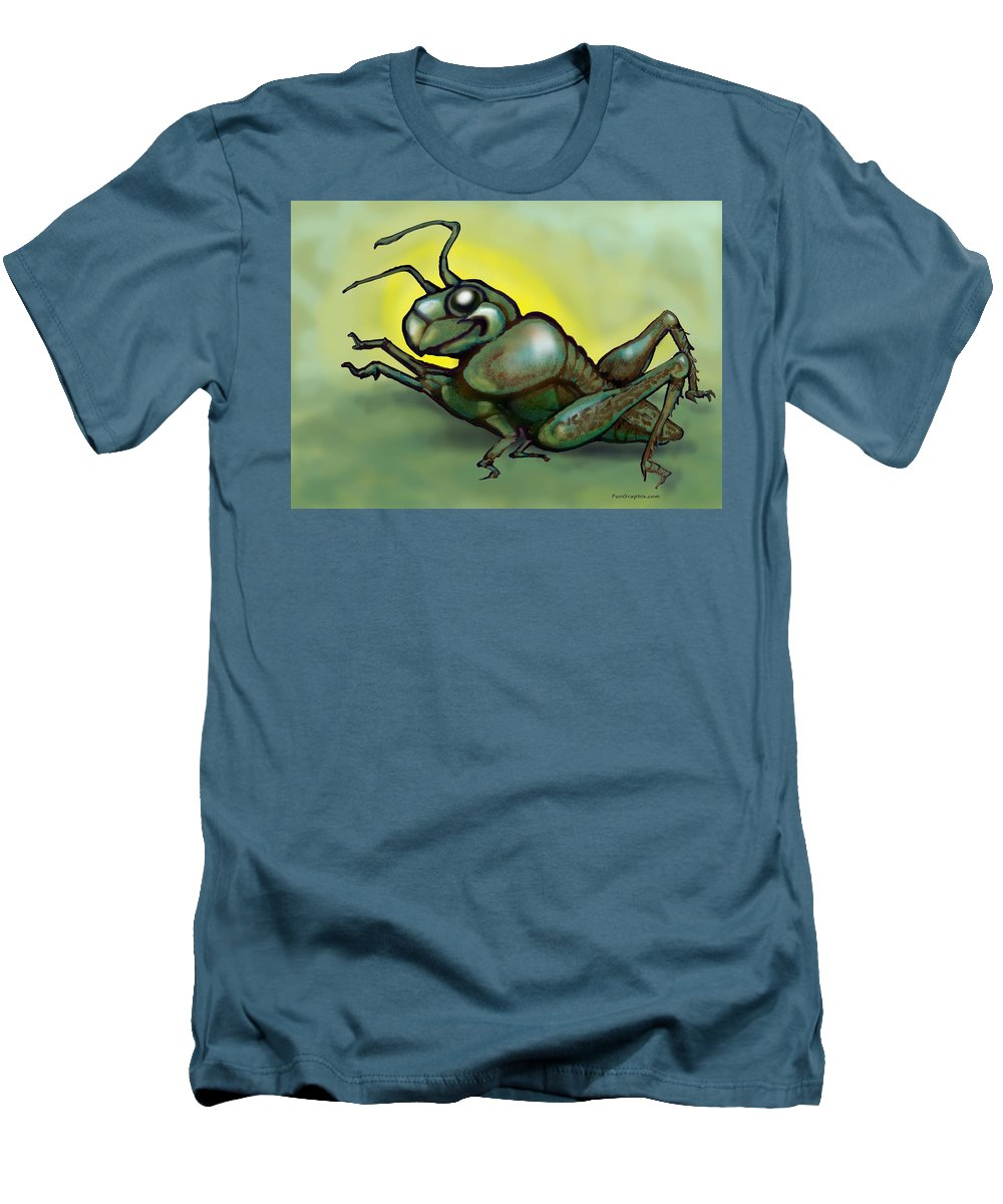 Grasshopper Men's T-Shirt (Athletic Fit) featuring the greeting card Grasshopper by Kevin Middleton