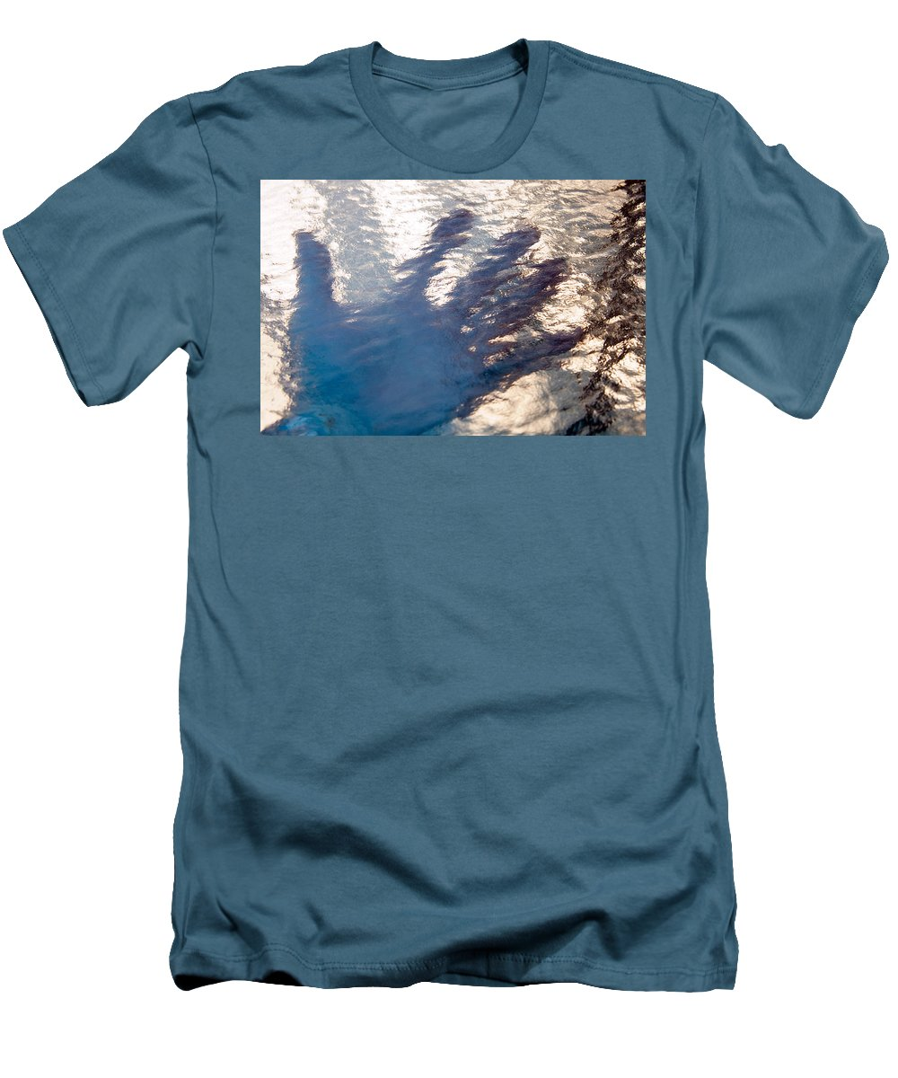 Clay Men's T-Shirt (Athletic Fit) featuring the photograph Hand Out by Clayton Bruster