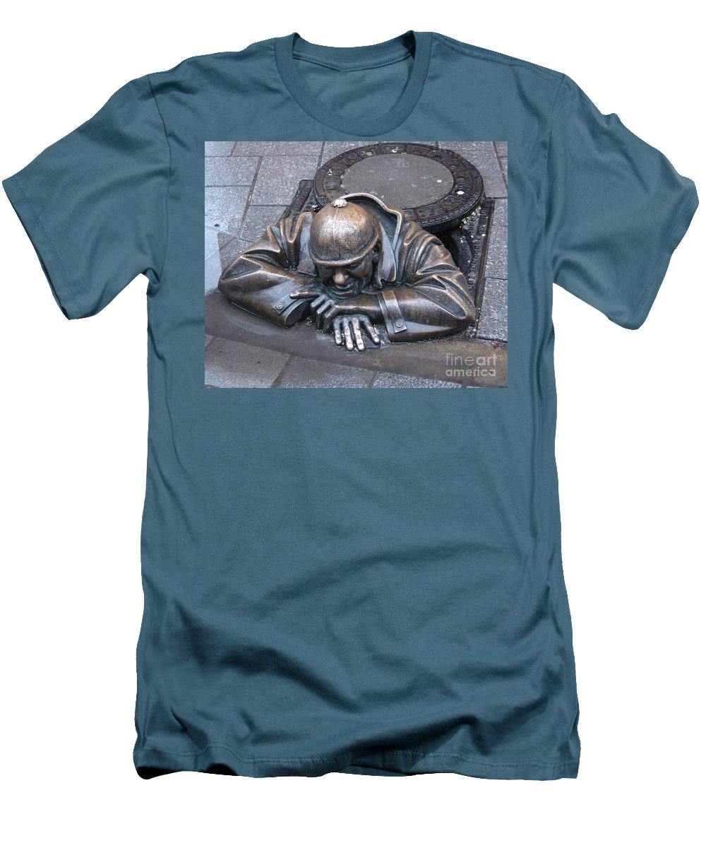 Man Men's T-Shirt (Athletic Fit) featuring the photograph Help Me Out by Mary Rogers