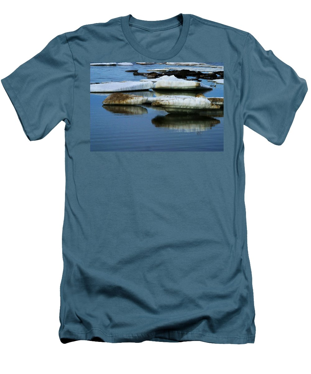 Ice Men's T-Shirt (Athletic Fit) featuring the photograph Ice In The Arctic by Anthony Jones