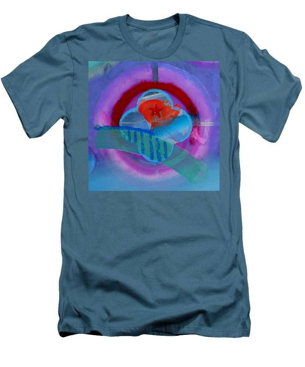 Logo Men's T-Shirt (Athletic Fit) featuring the painting Iron Butterfly by Charles Stuart