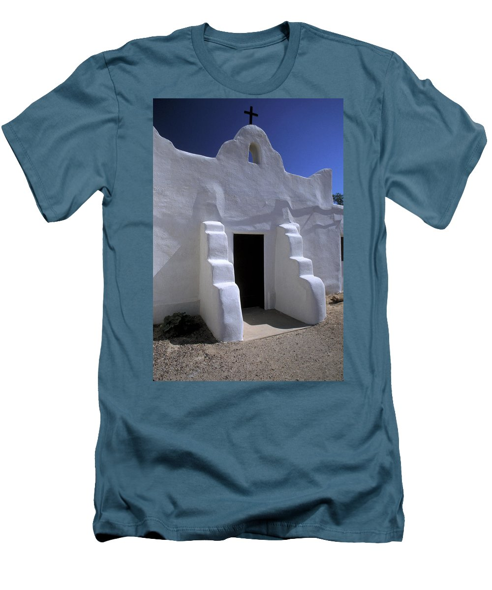 Adobe Men's T-Shirt (Athletic Fit) featuring the photograph Isleta by Jerry McElroy