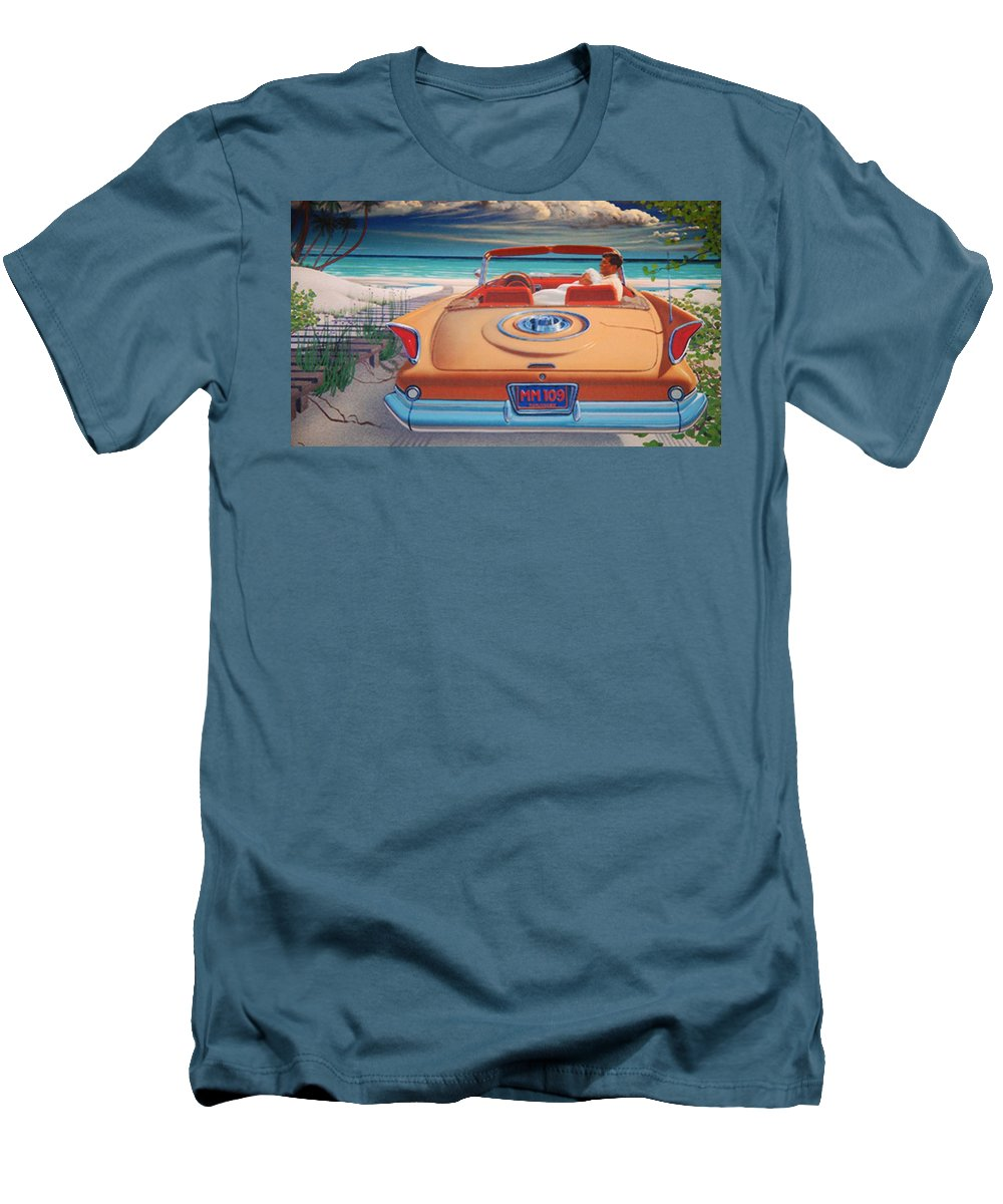 Jfk Men's T-Shirt (Athletic Fit) featuring the photograph J F K And M M by Rob Hans