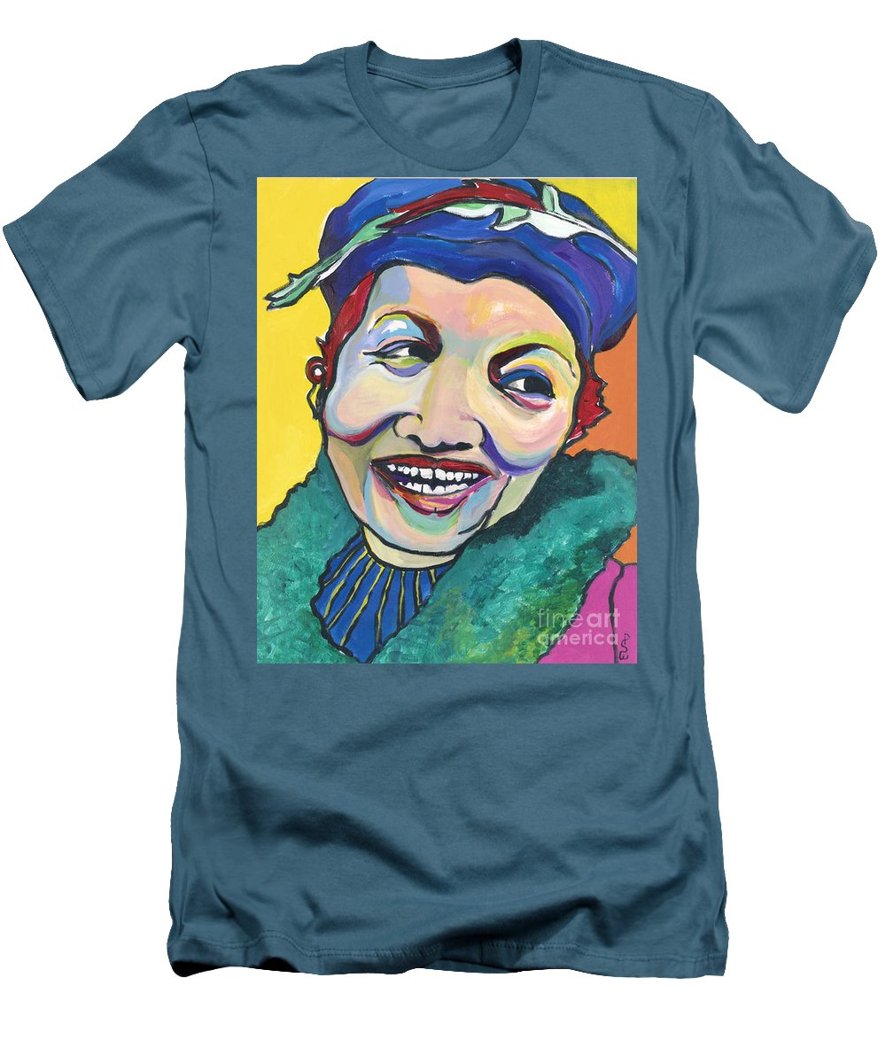 Hat Men's T-Shirt (Athletic Fit) featuring the painting Koko Vivienne by Pat Saunders-White