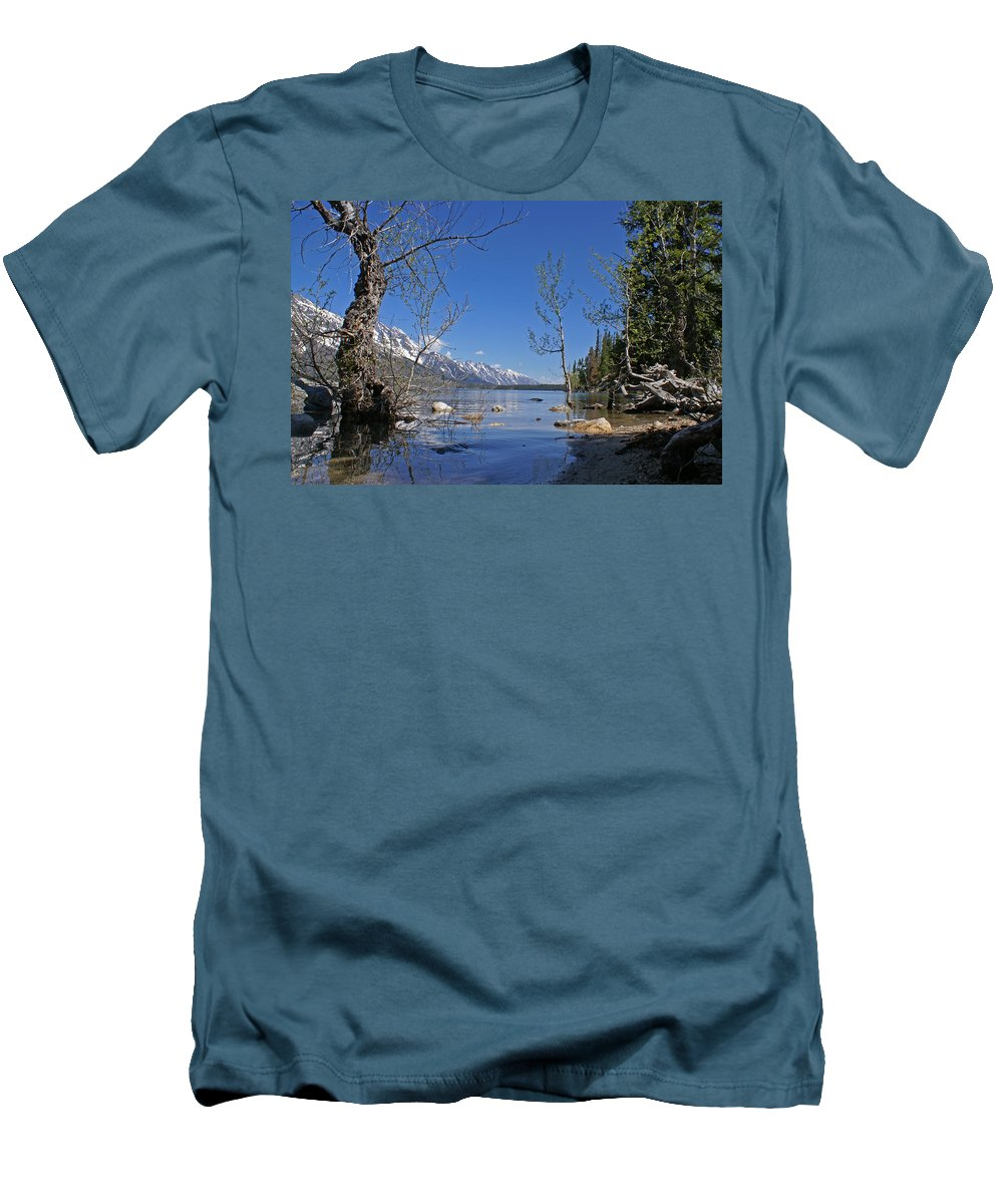 Lake Jenny Men's T-Shirt (Athletic Fit) featuring the photograph Lake Jenny by Heather Coen