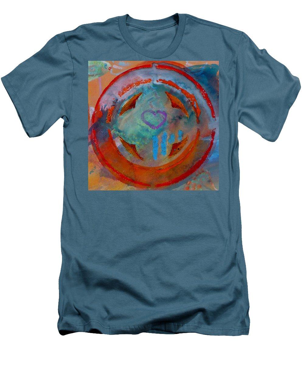 Love Men's T-Shirt (Athletic Fit) featuring the painting Landscape Seascape by Charles Stuart