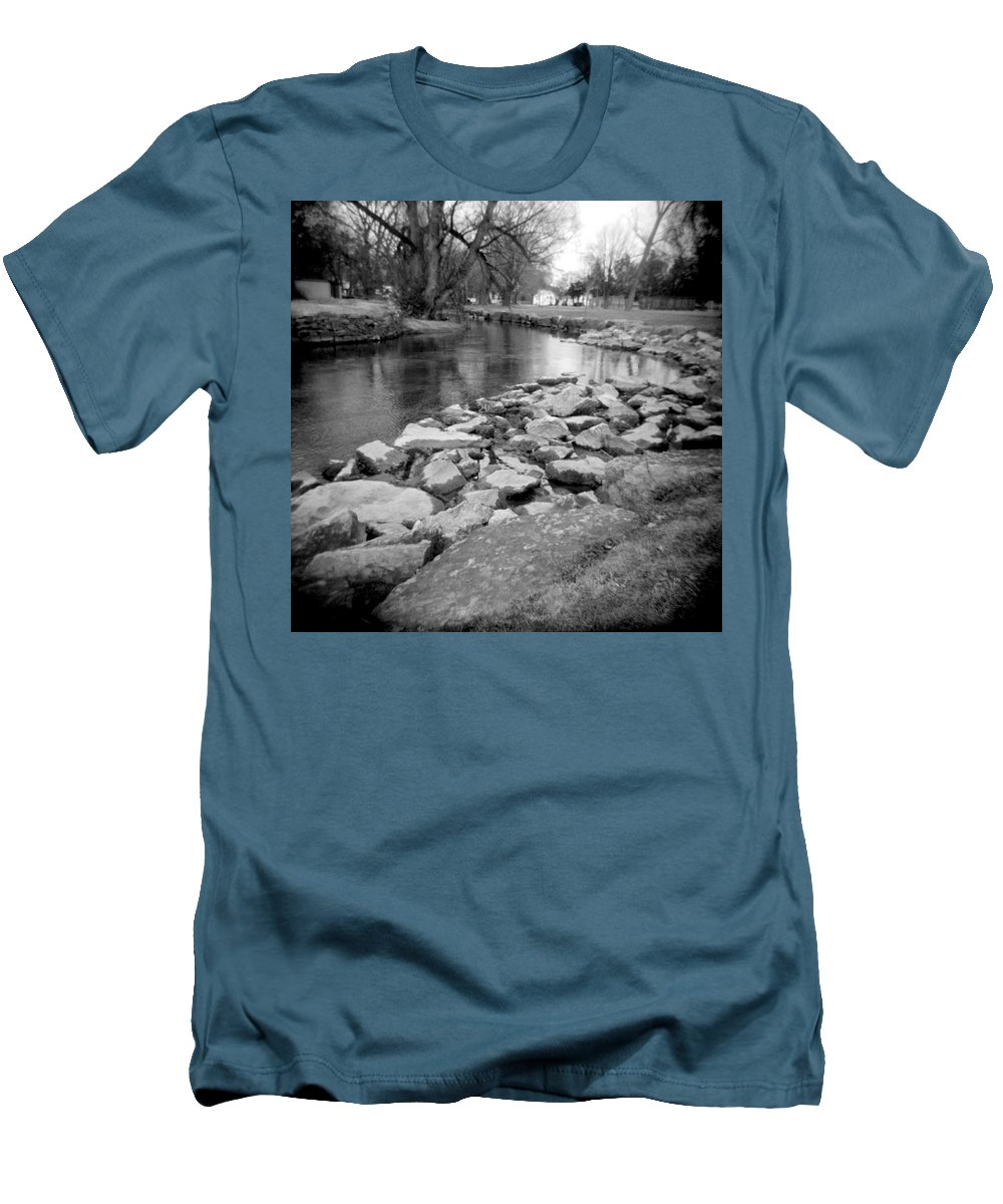 Photograph Men's T-Shirt (Athletic Fit) featuring the photograph Le Tort Spring Run by Jean Macaluso