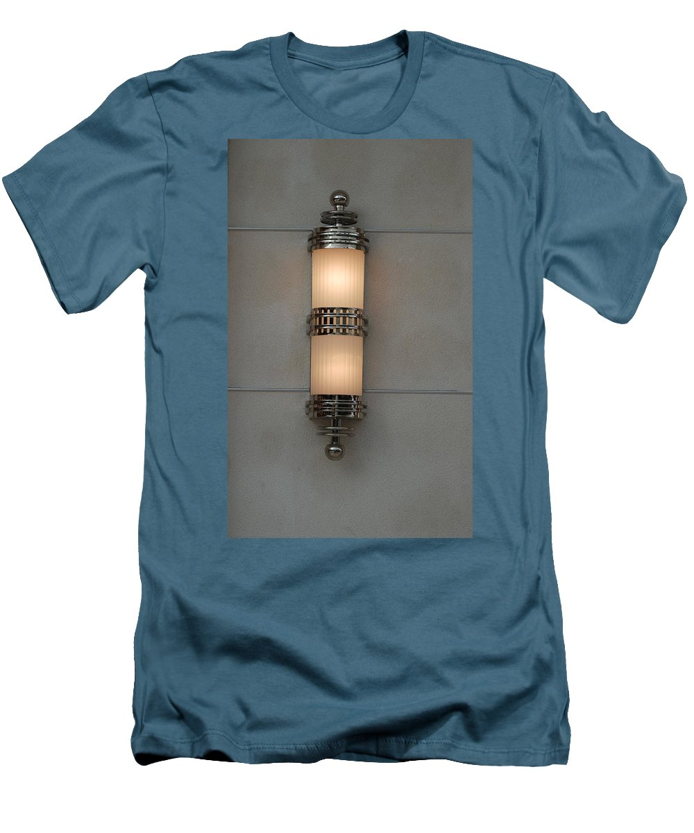 Sconce Men's T-Shirt (Athletic Fit) featuring the photograph Lighted Wall Sconce by Rob Hans