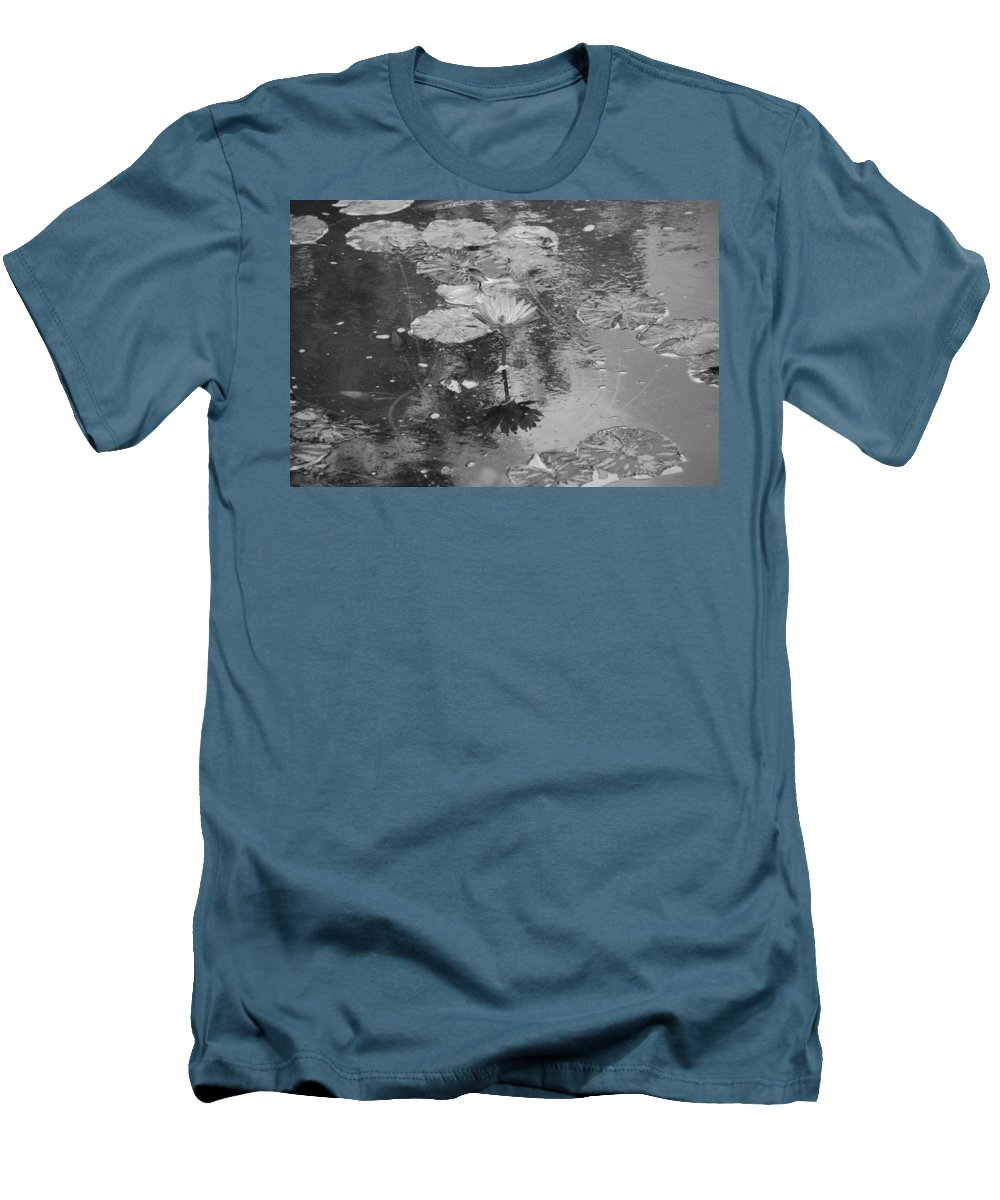 Lilly Pond Men's T-Shirt (Athletic Fit) featuring the photograph Lilly Pond by Rob Hans