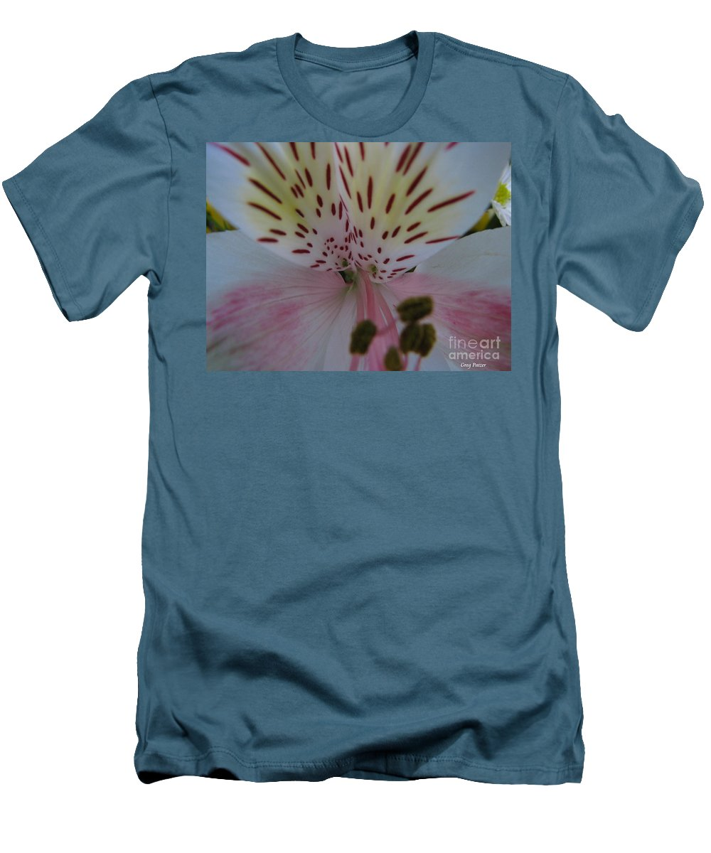 Patzer Men's T-Shirt (Athletic Fit) featuring the photograph Lily by Greg Patzer