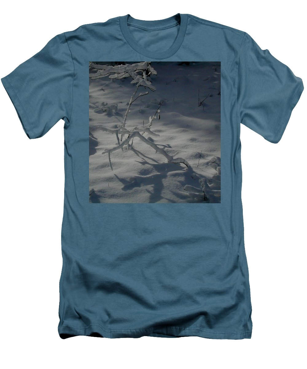 Loneliness Men's T-Shirt (Athletic Fit) featuring the photograph Loneliness In The Cold by Douglas Barnett
